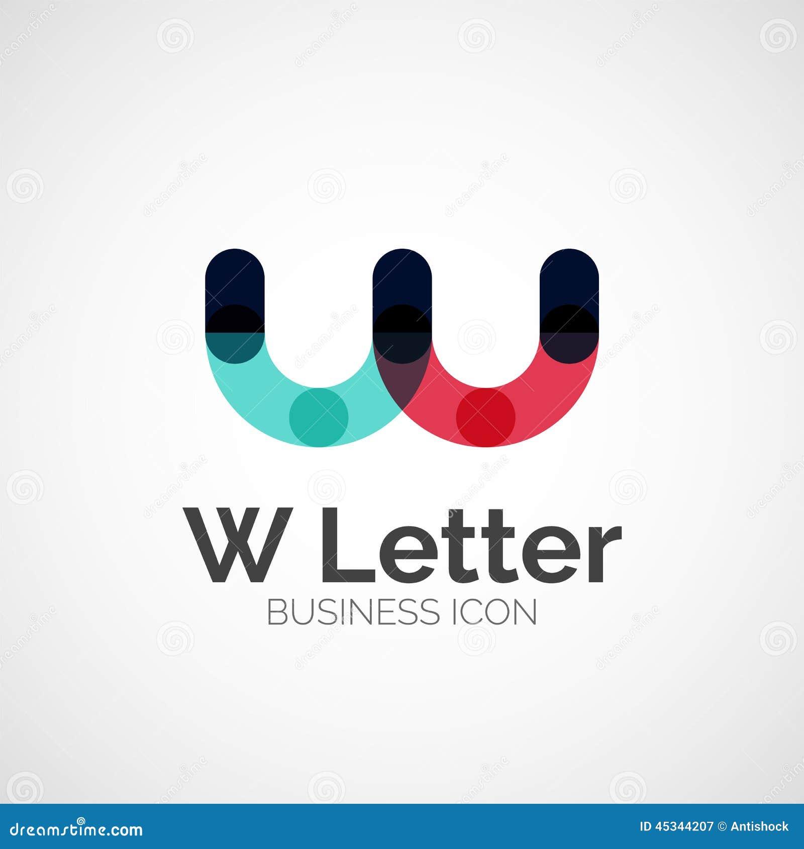 Letter Logo  Min...W Logo Design Vector