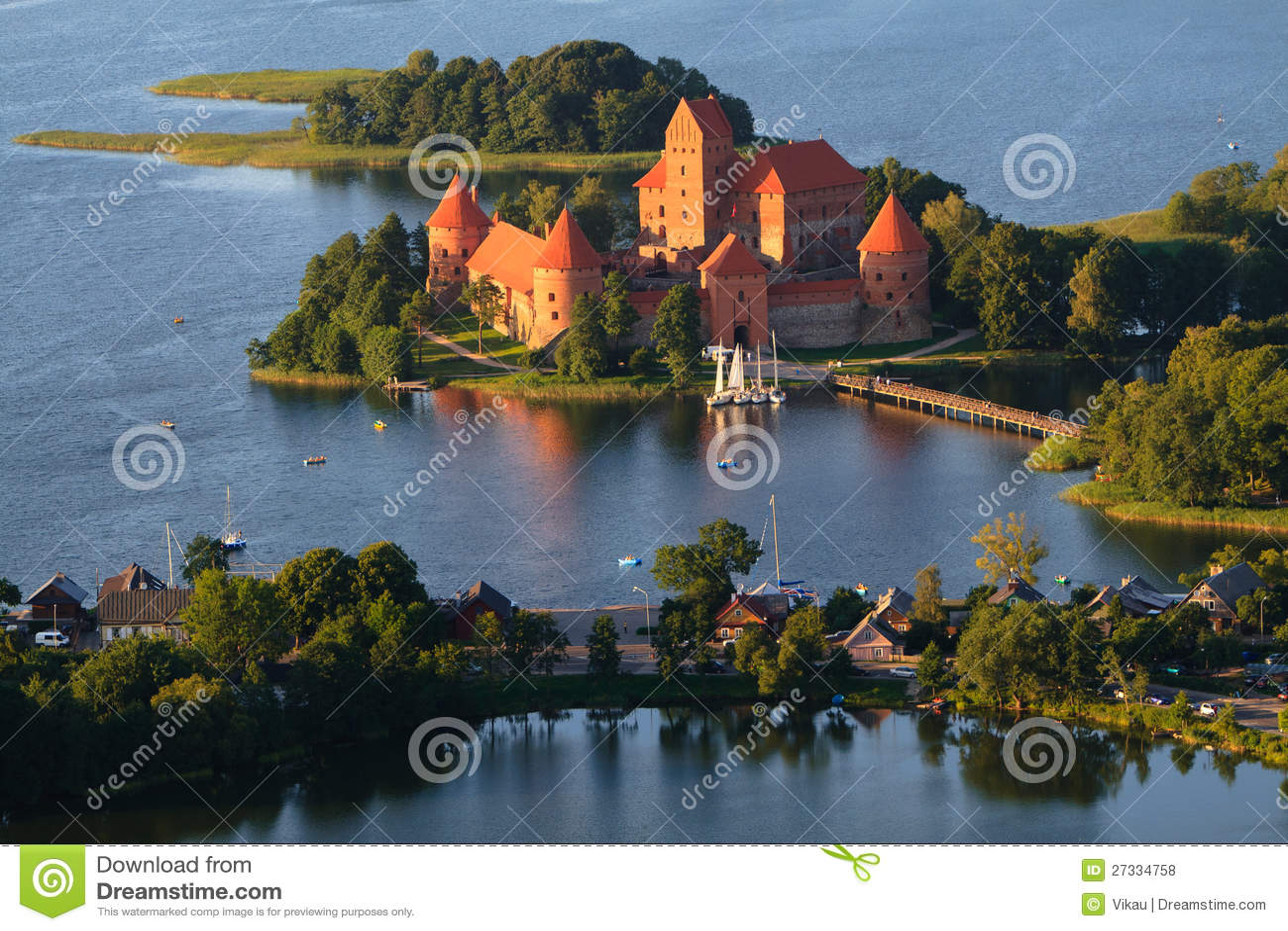 W Lithuania Trakai kasztel