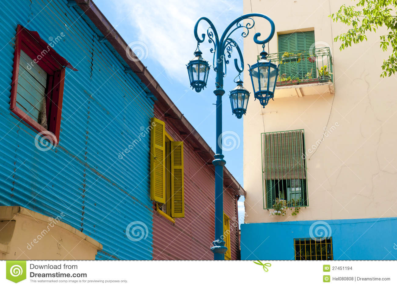 W Los Angeles kolorowe ściany Boca, Buenos Aires