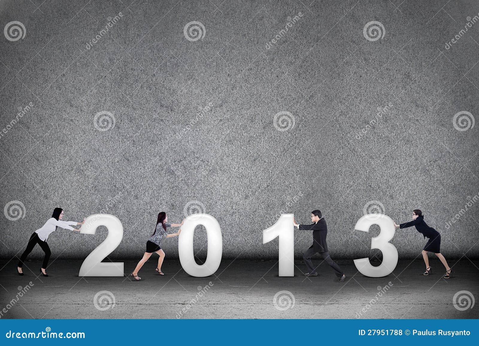W nowym roku biznesowa praca zespołowa 2013