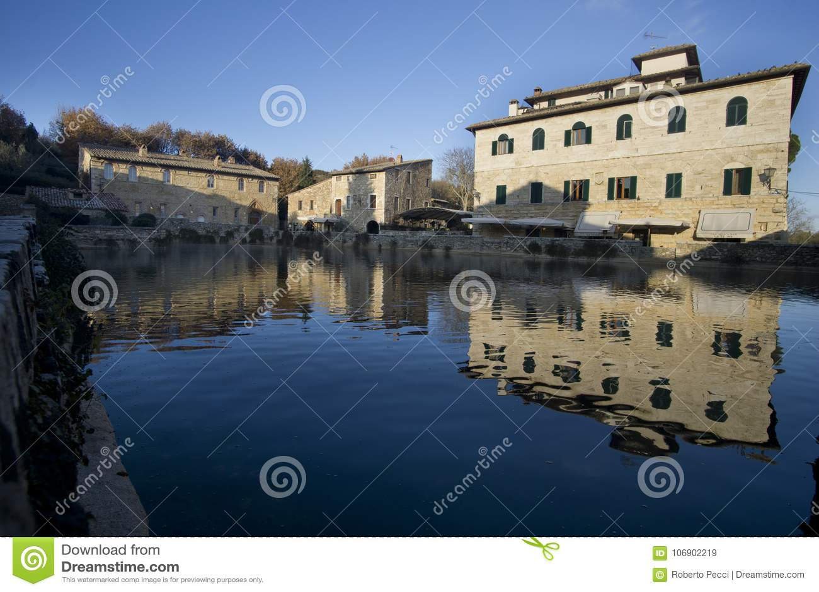 Włochy, Tuscany, Val d ` Orcia, San Quirico d ` Orcia, Bagno Vignoni,