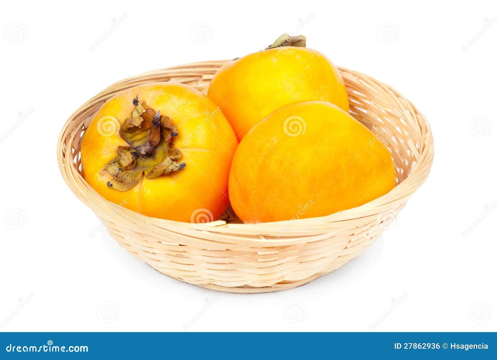 W owocowym koszu Persimmon owoc