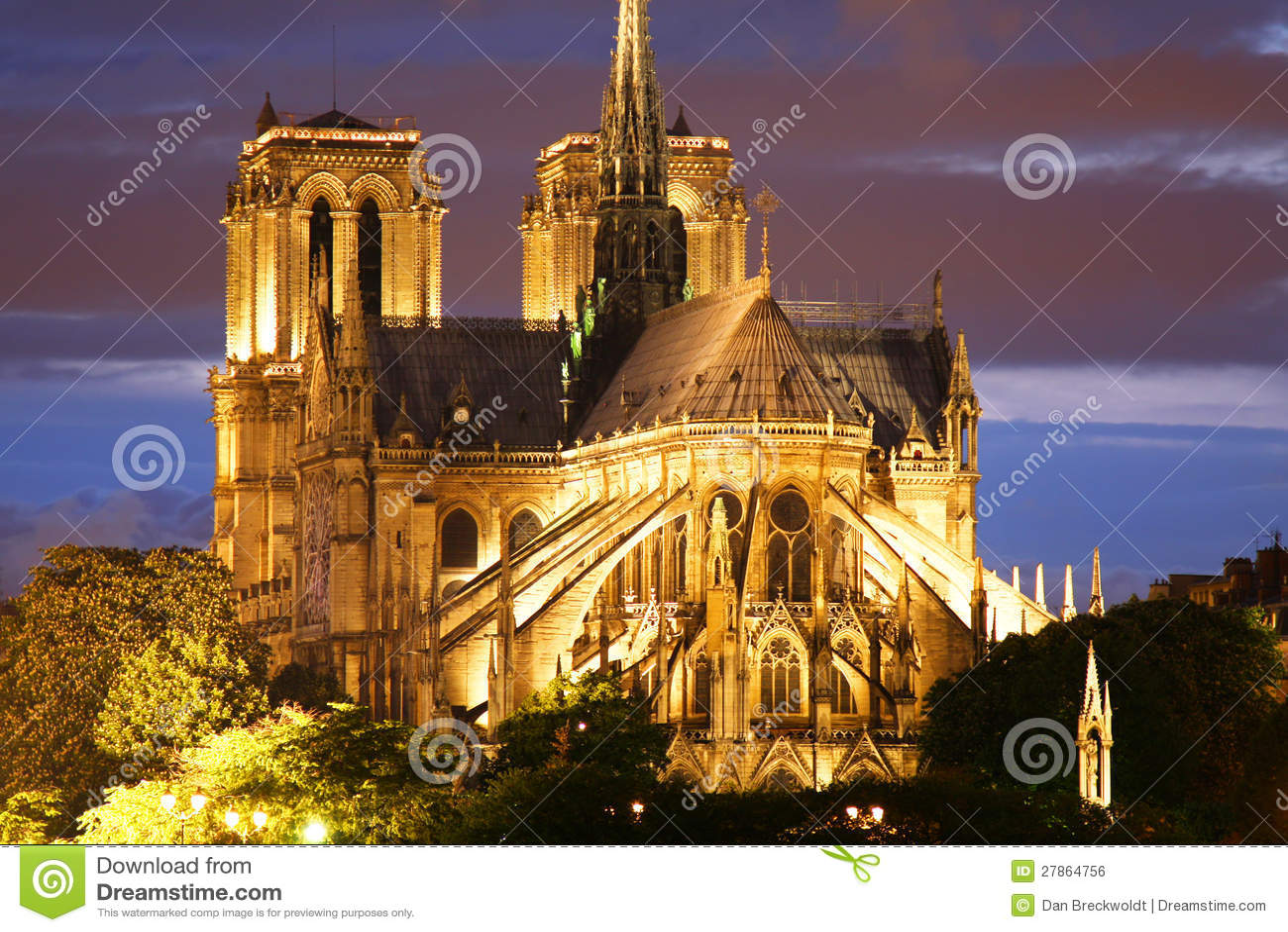 W Paryż Notre Damae katedra
