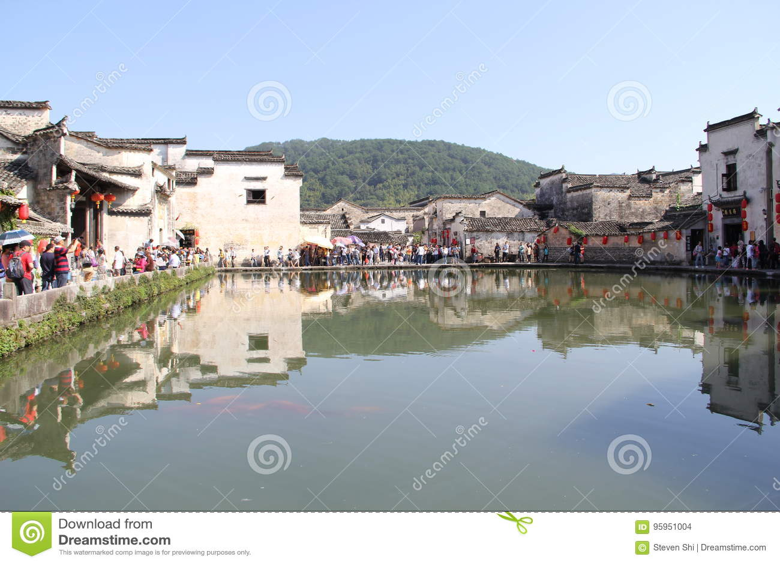 W prowincja anhui, Porcelanowa Hongcun wioska