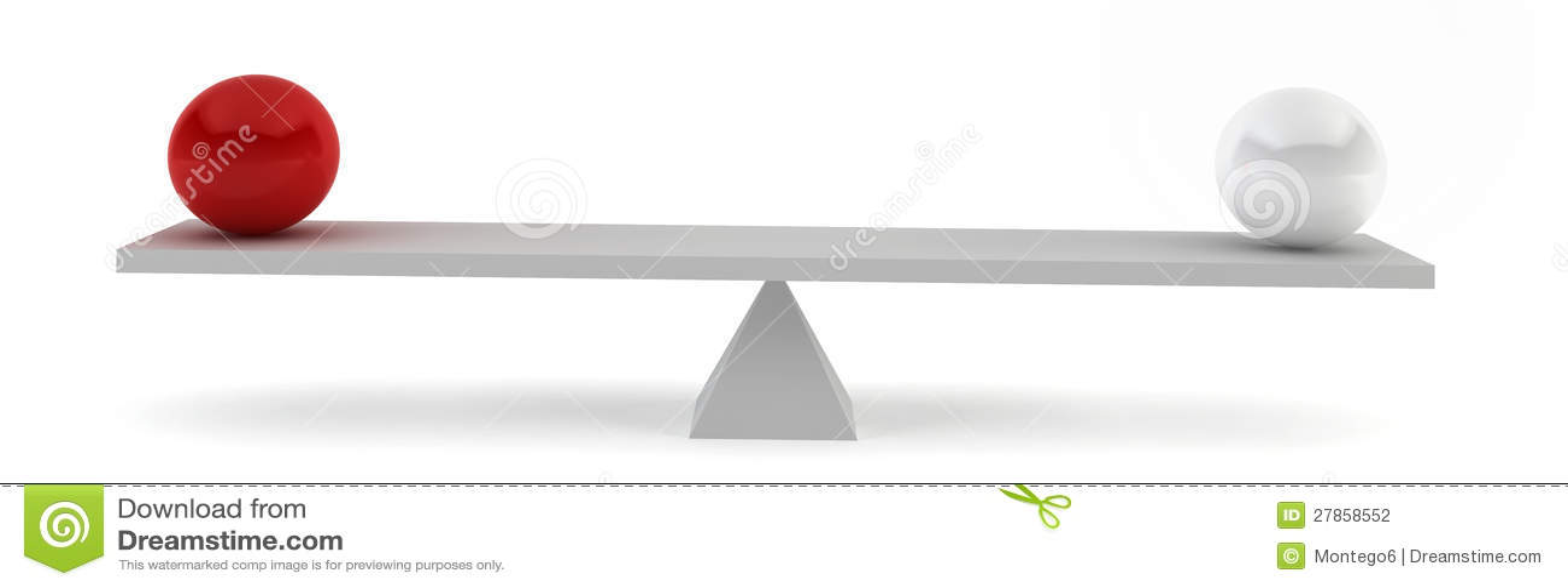 W równowadze dwa sfery