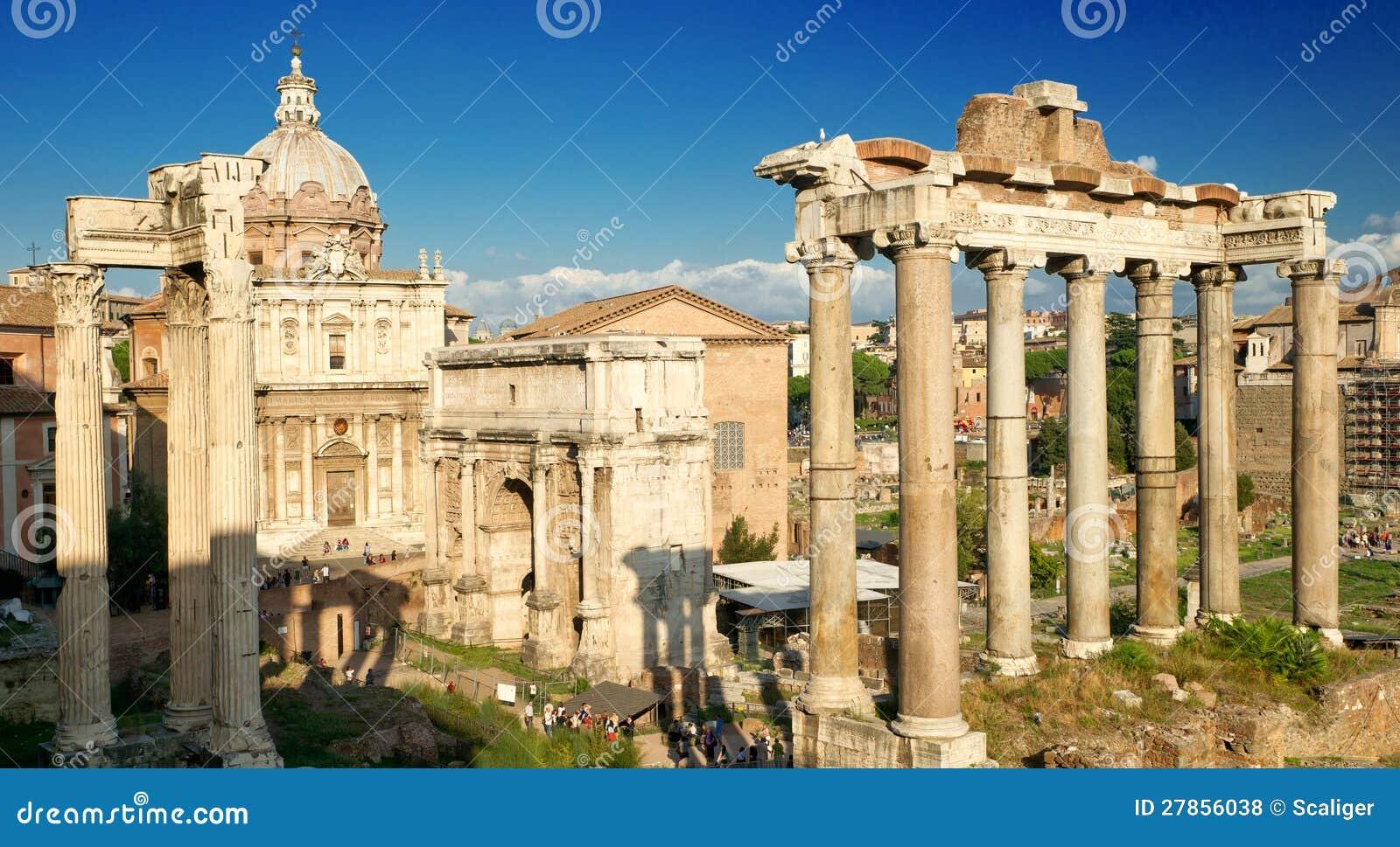 W Rzym romański Forum