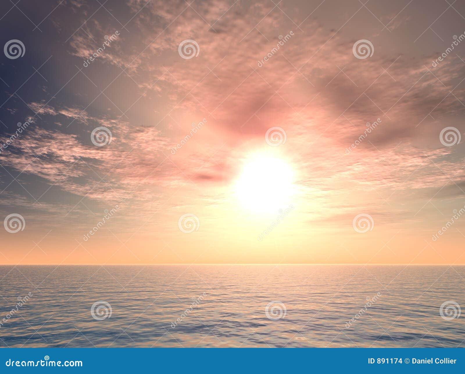 W rzymskim wschodem słońca morskim