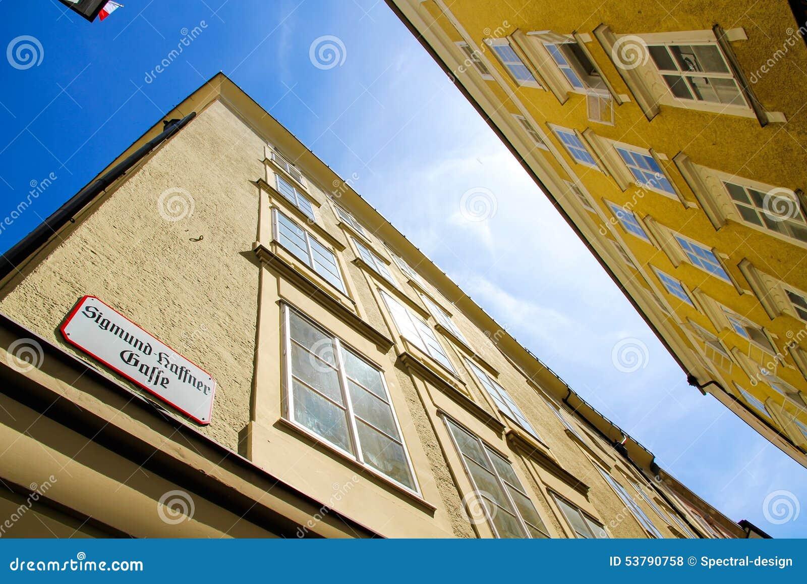 W Salzburg historyczna Architektura
