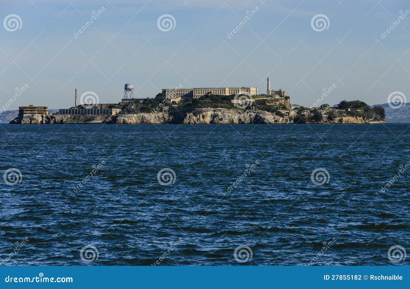 W San Fransisco Zatoce Alcatraz Wyspa