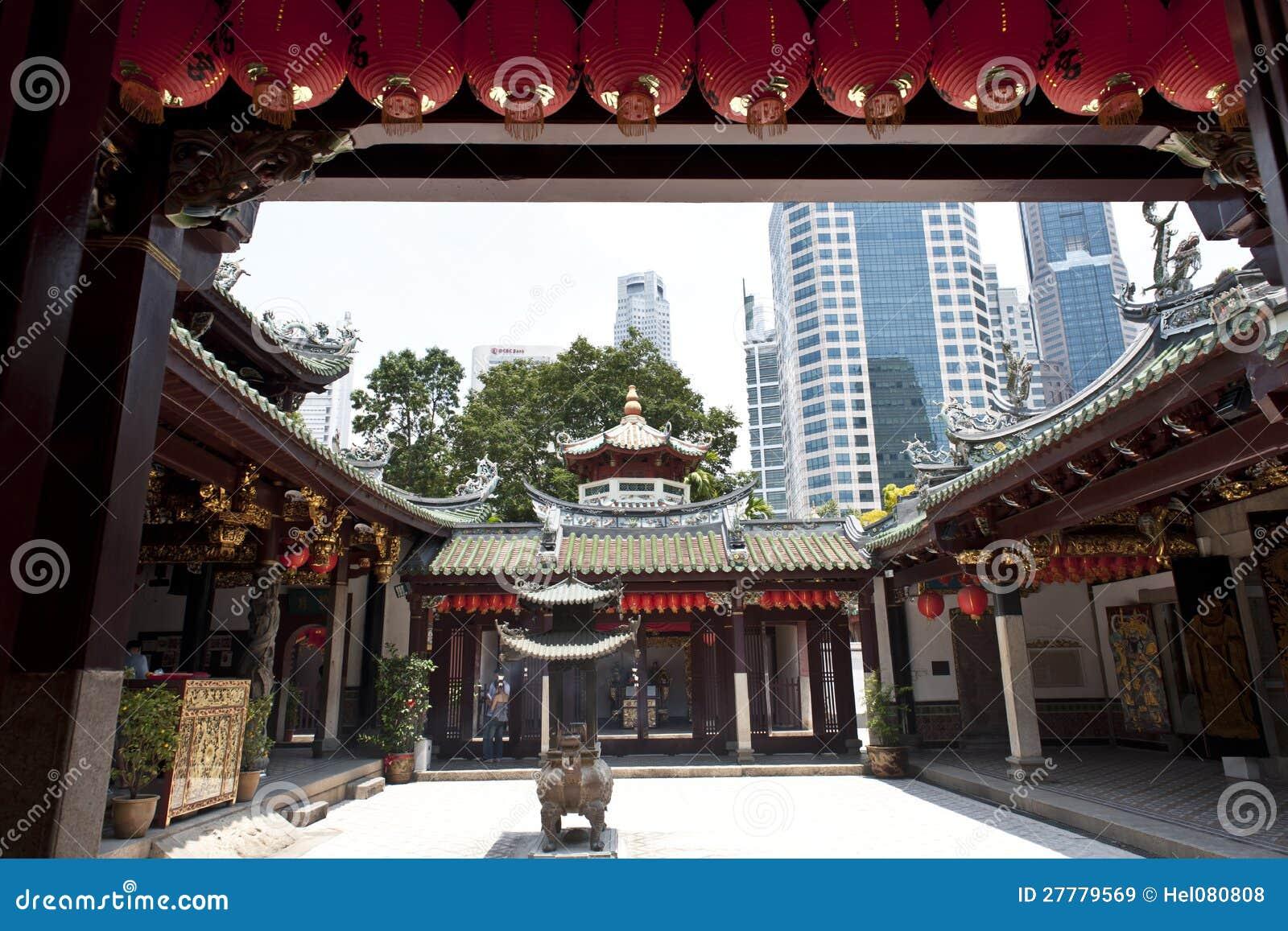 W Singapur chińska Świątynia