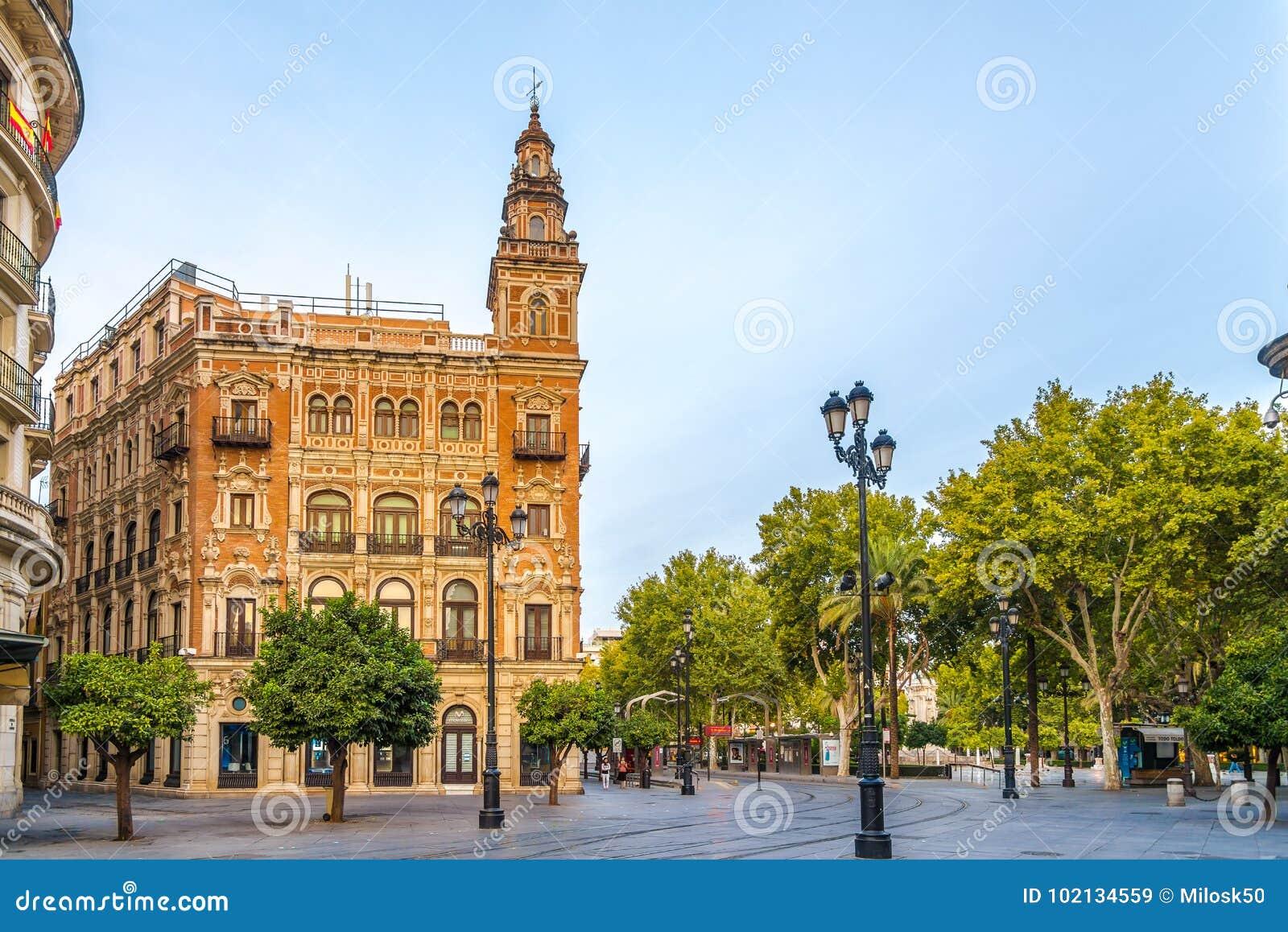 W ulicie Sevilla w Hiszpania