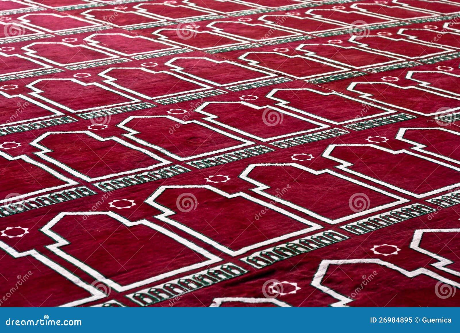 W wzorze modlenie czerwony Islamski Dywan