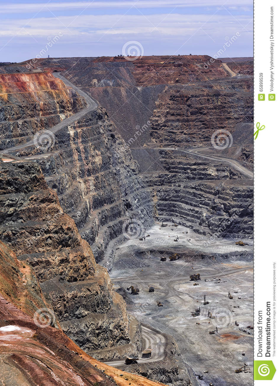 WA Super Pit Mine Sky Vertical Stock Image - Image of gold
