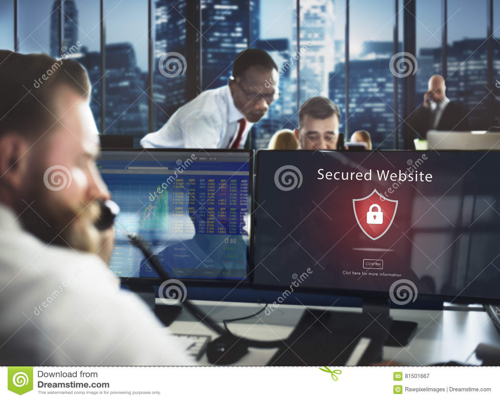 Waakzaam Waarschuwing Beveiligd de Websiteconcept van de waarschuwingsveiligheid