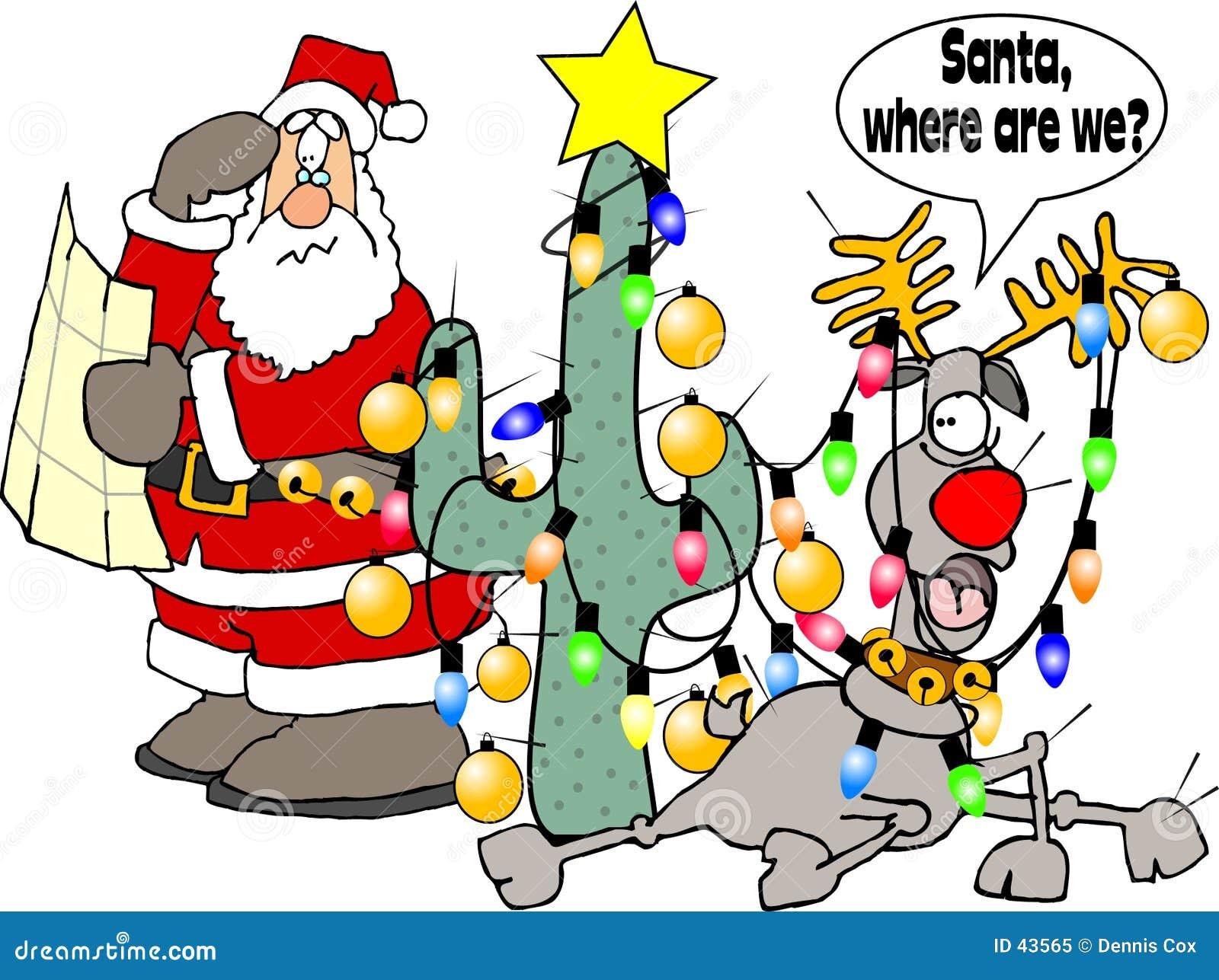 Download Waar zijn wij Kerstman? stock illustratie. Illustratie bestaande uit rendier - 43565