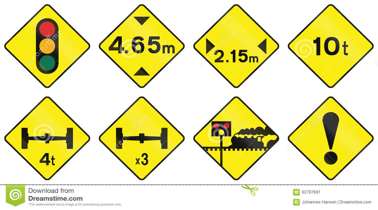 Waarschuwingsverkeersteken in Ierland