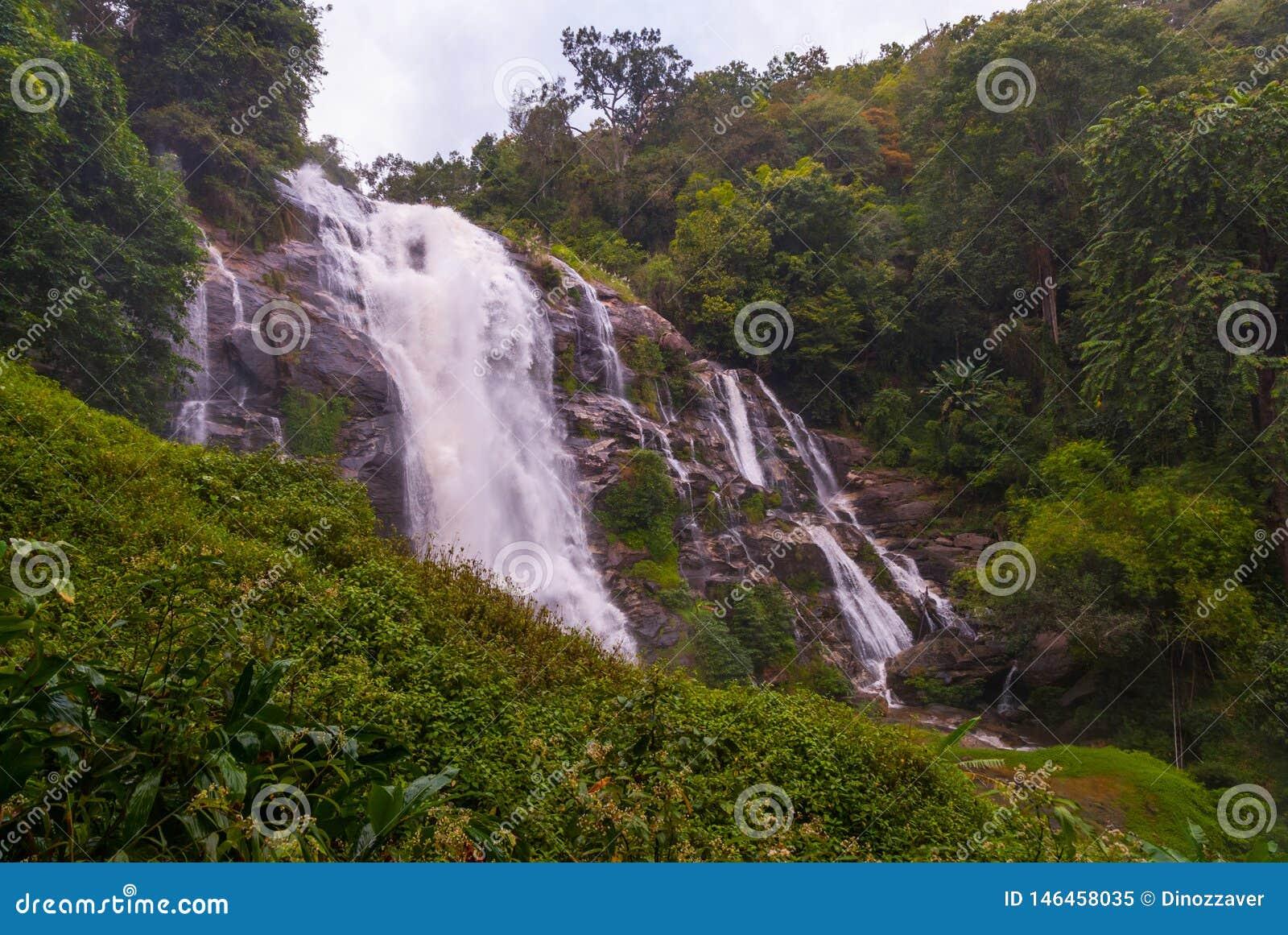 Wachirathan waterfall, Thailand
