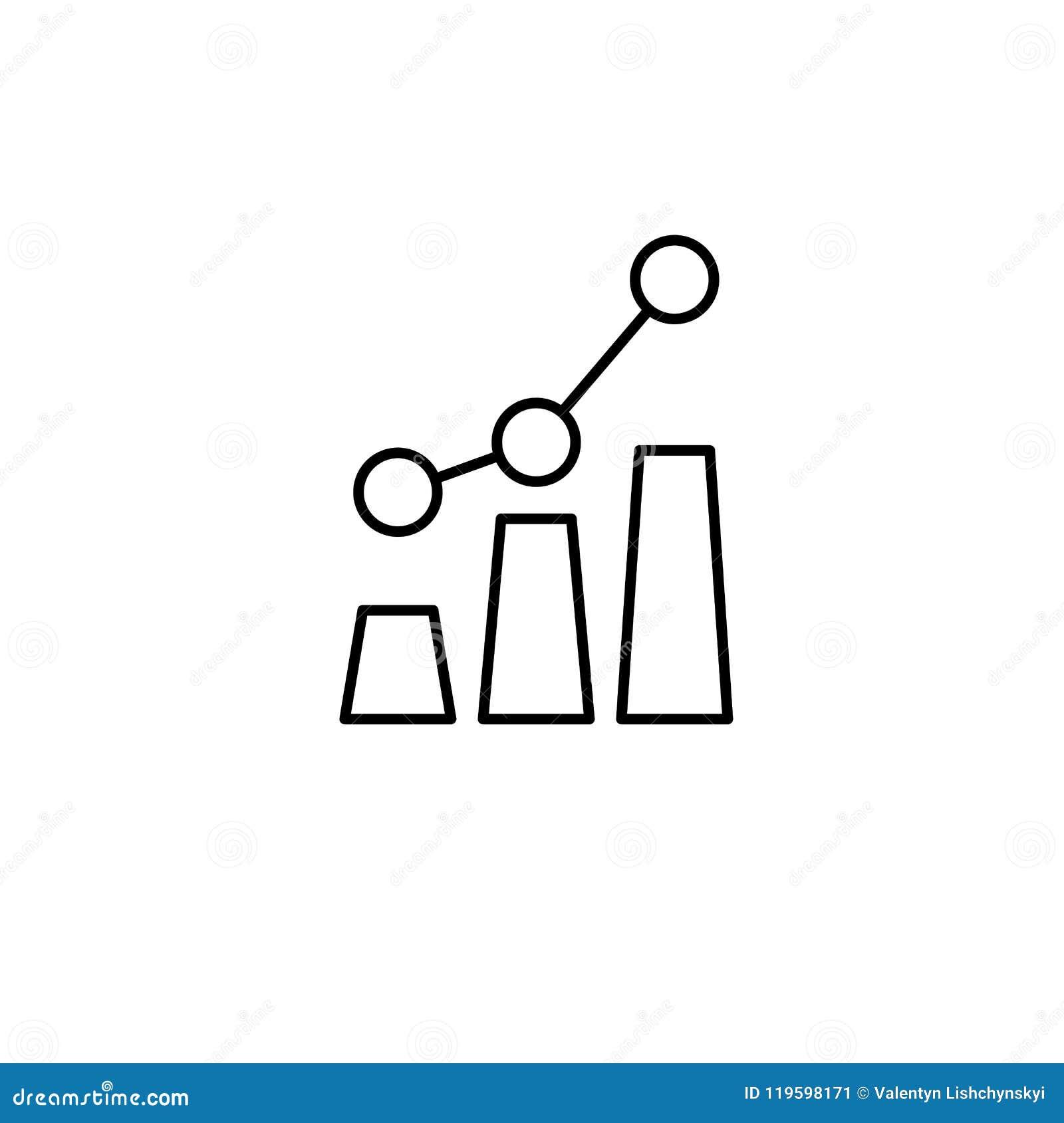 Wachstumsdiagramm Übersetzt Ikone