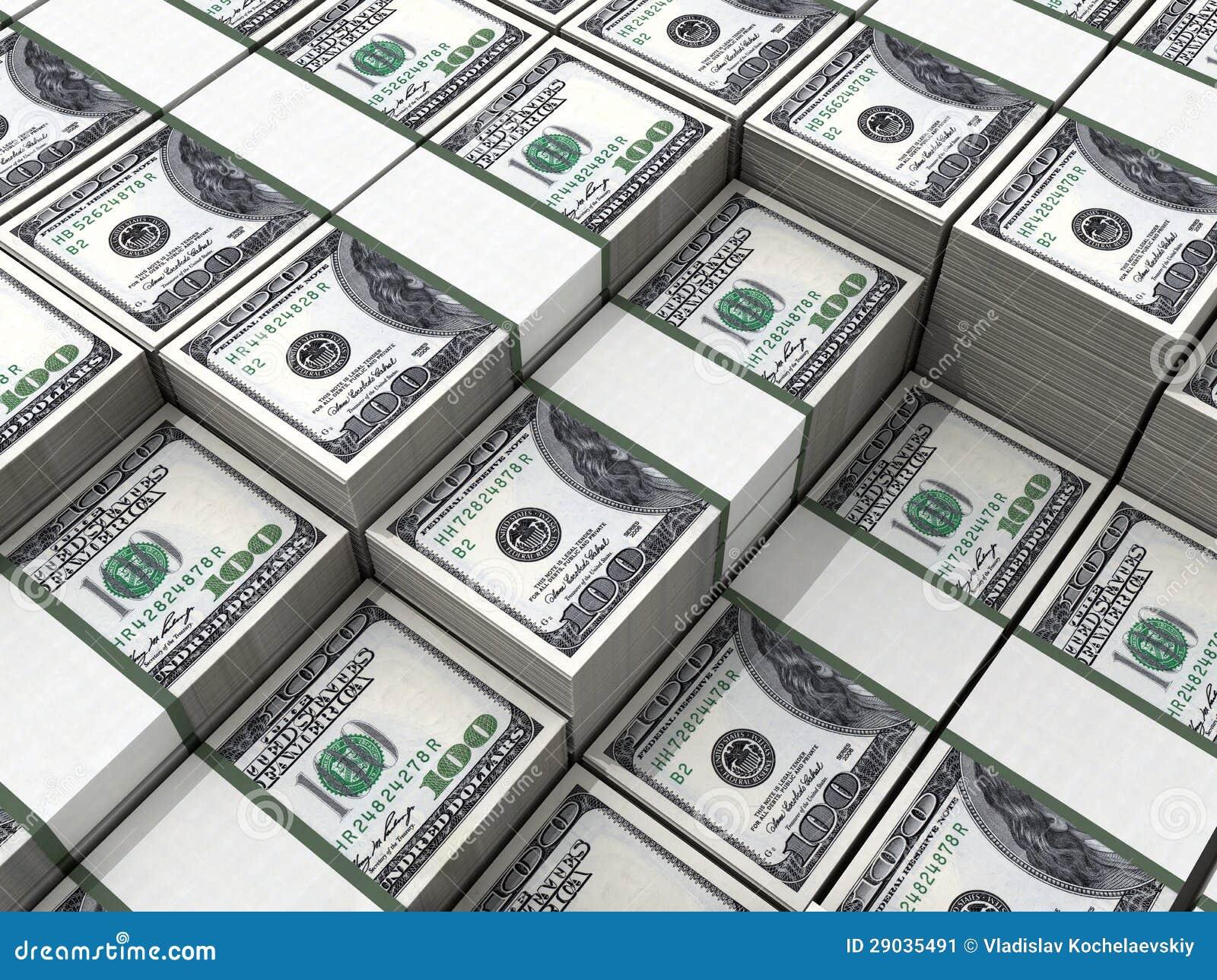 Wads Of Money Stock Image Image 29035491