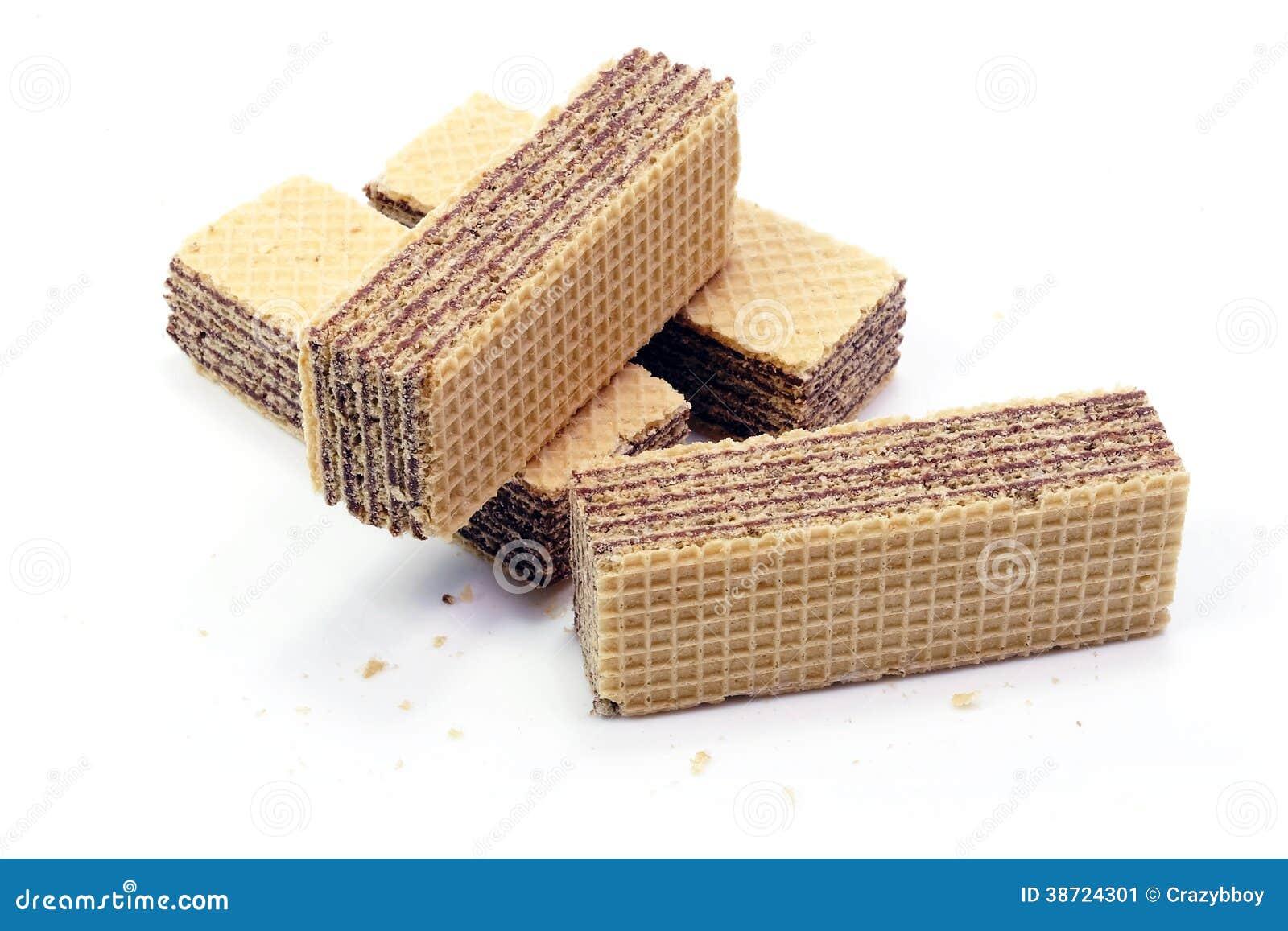 Wafer del cioccolato in isolato in
