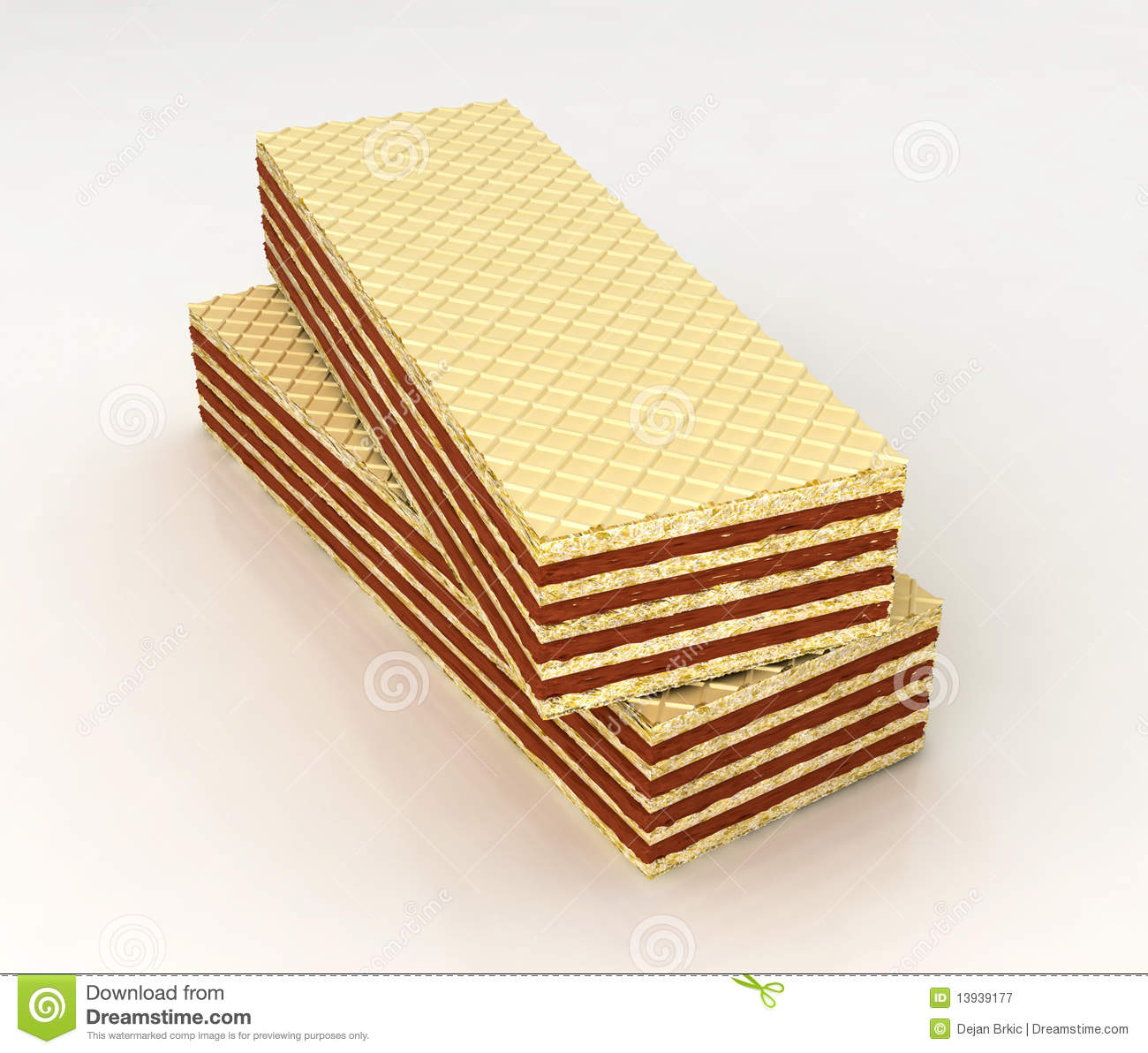 Wafers Filled With Chocolate Royalty Free Stock Photography - Image ...
