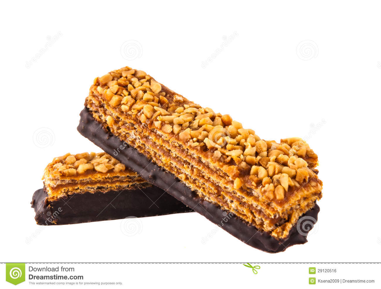 Wafers With Nuts Royalty Free Stock Image - Image: 29120516