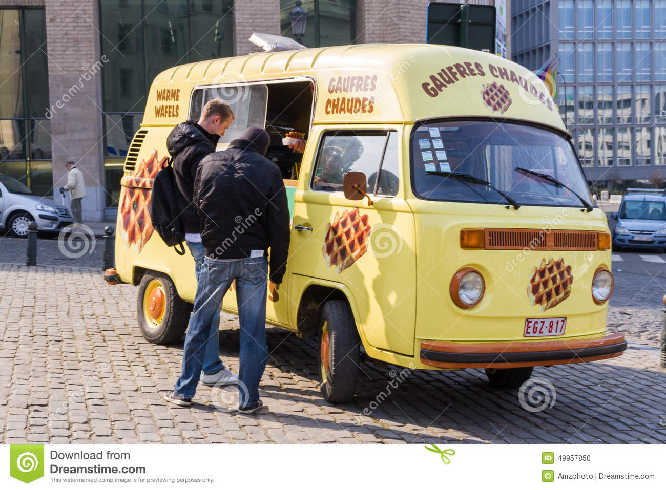 Editorial stock photo download waffle truck
