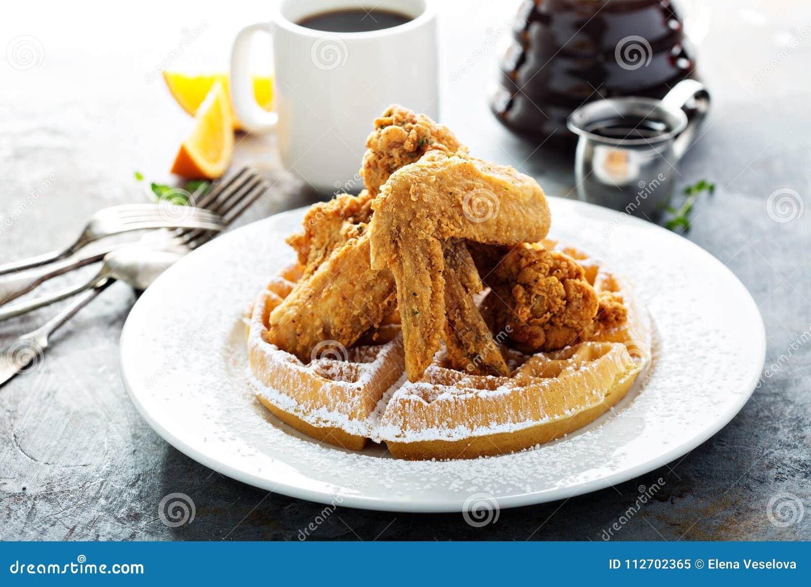 Waffles зажаренные цыпленком