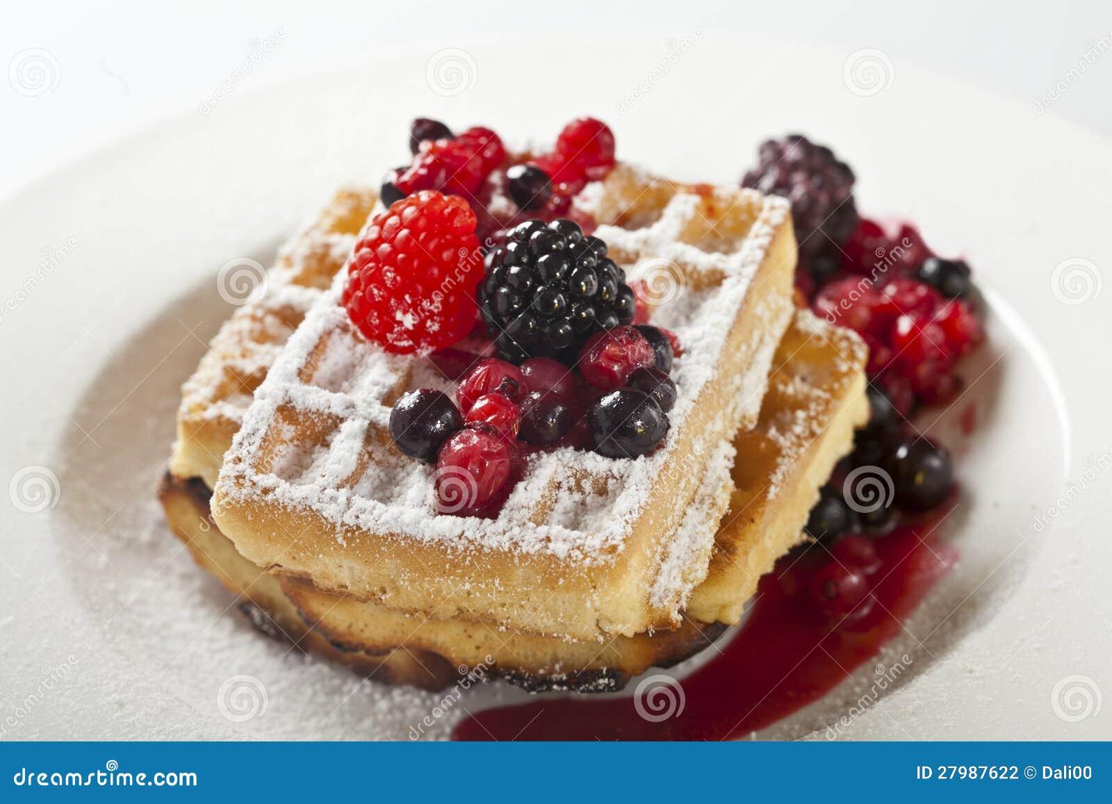Waffles ягод