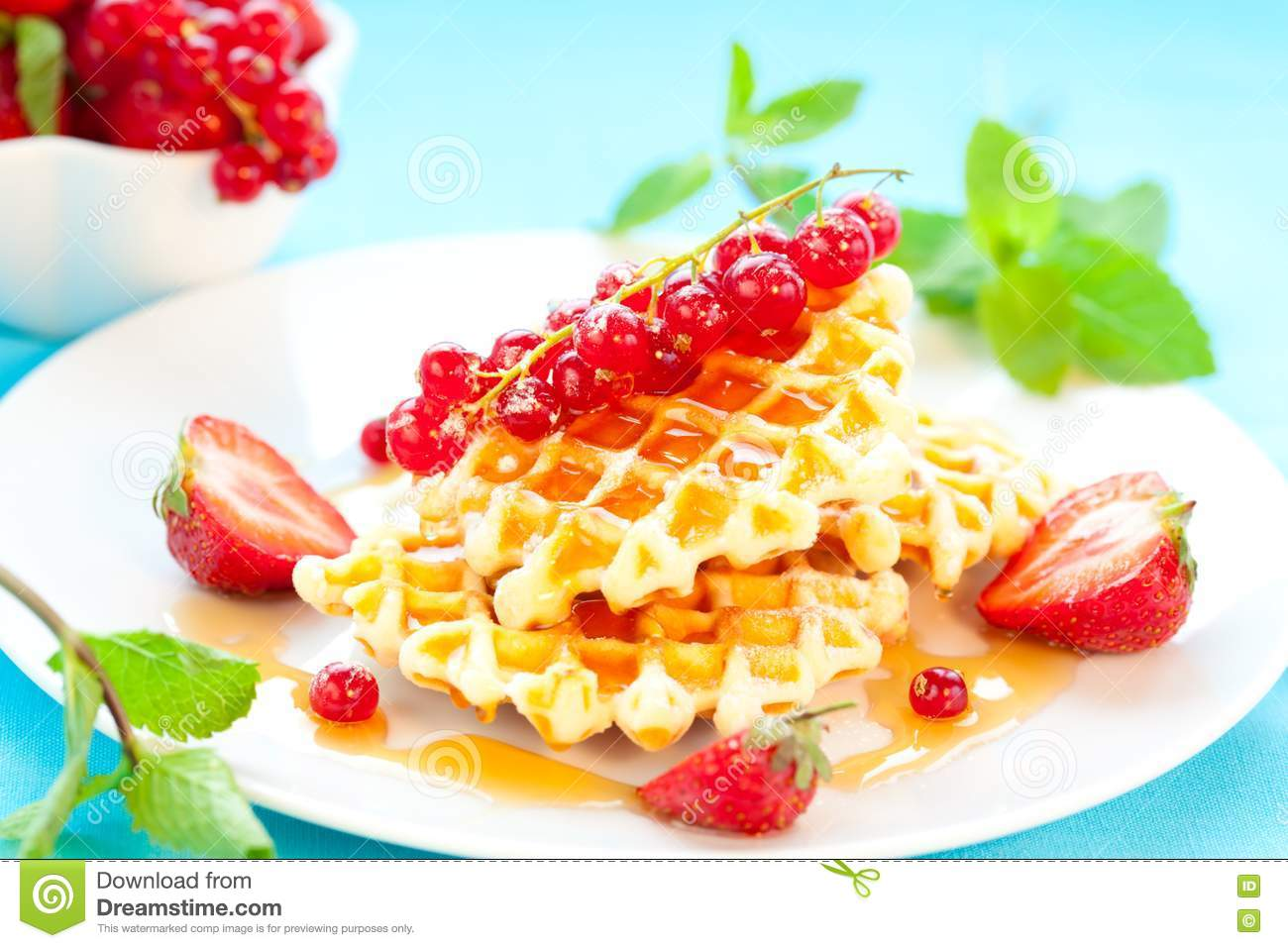 Waffles With Berries Royalty Free Stock Photo - Image: 18848255