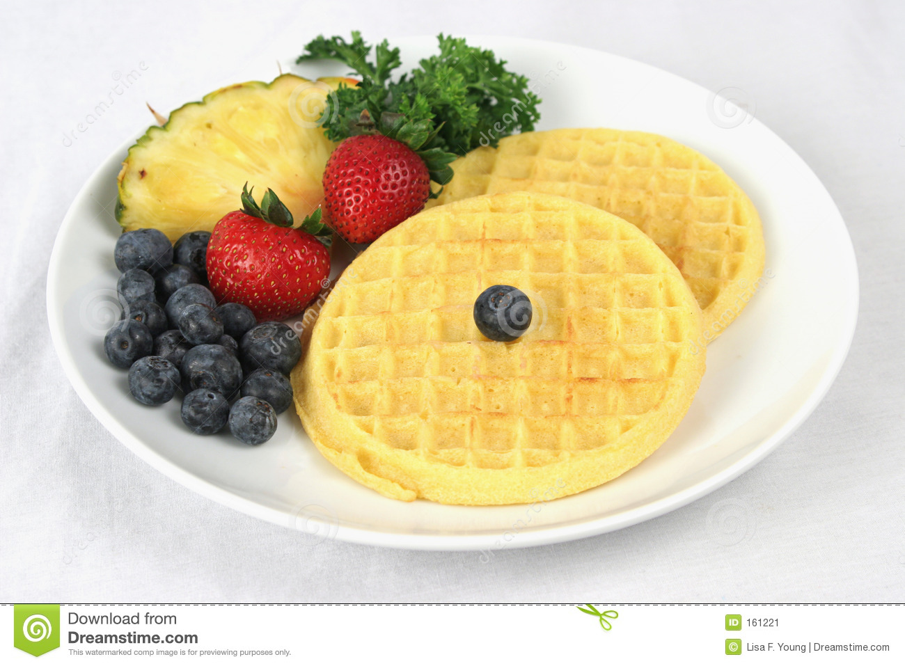 Waffles & Fruit Complete