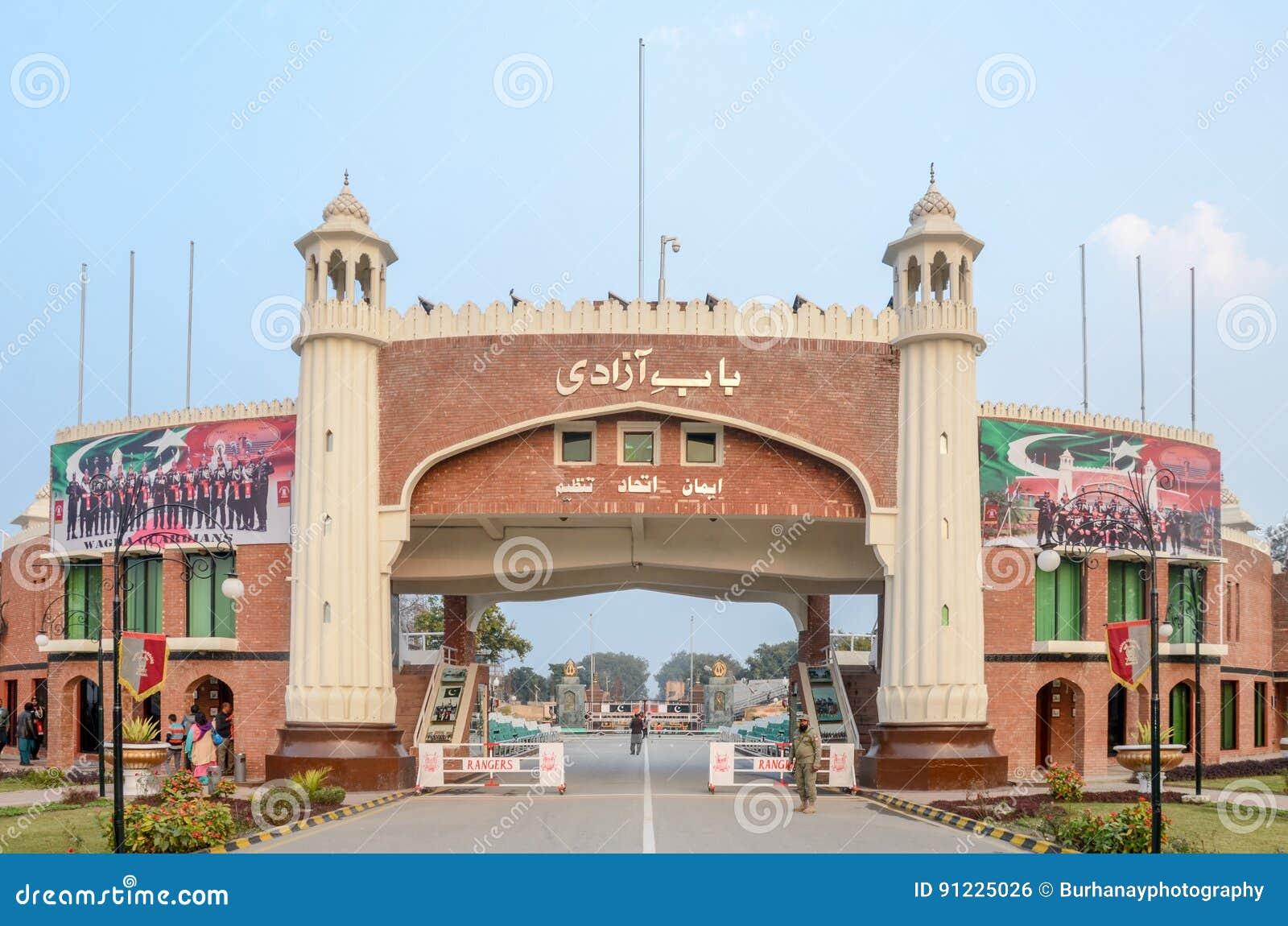 Wagah Border, Pakistan India Border, Lahore Pakistan On 28