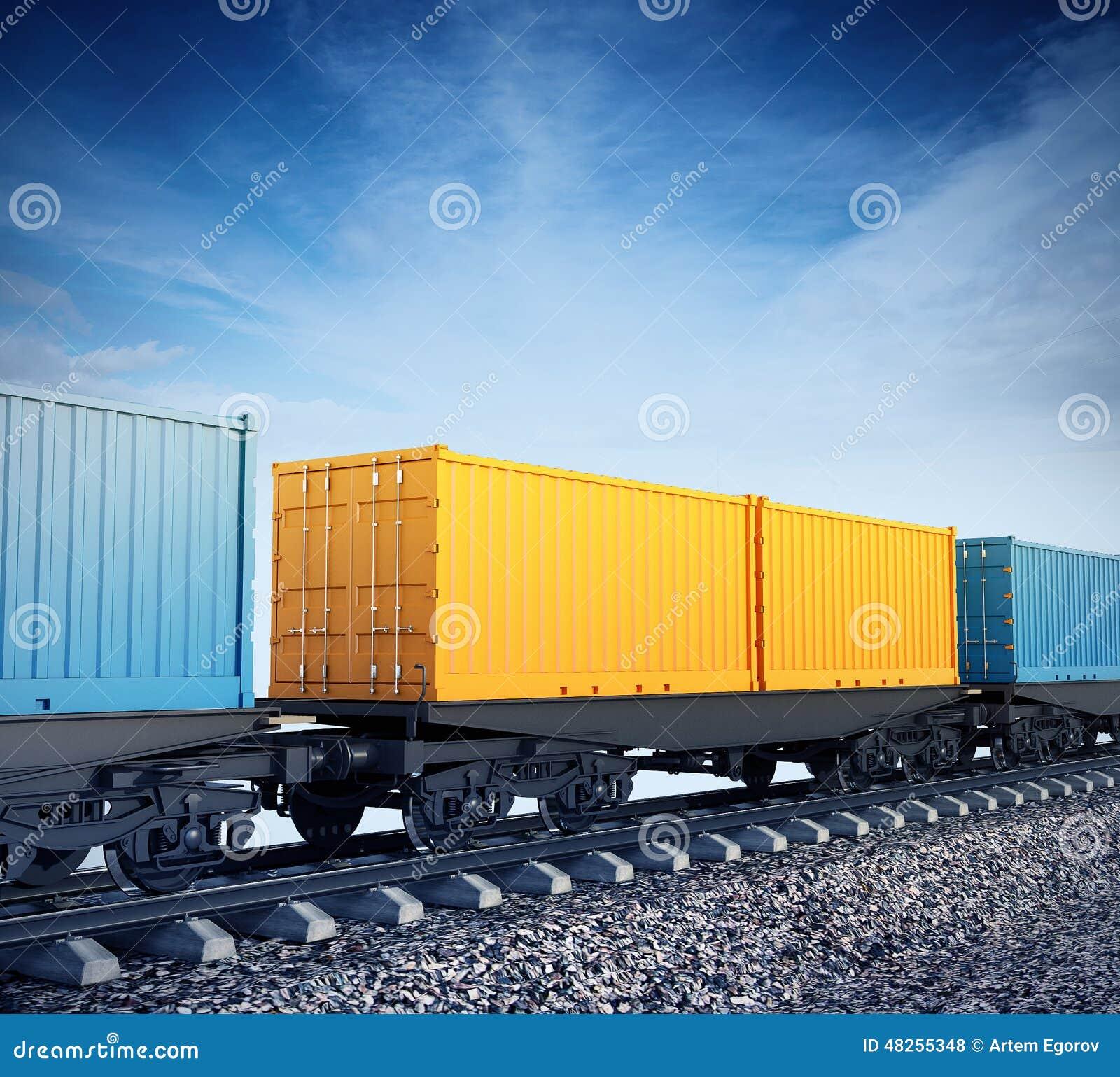 Wagens van goederentrein