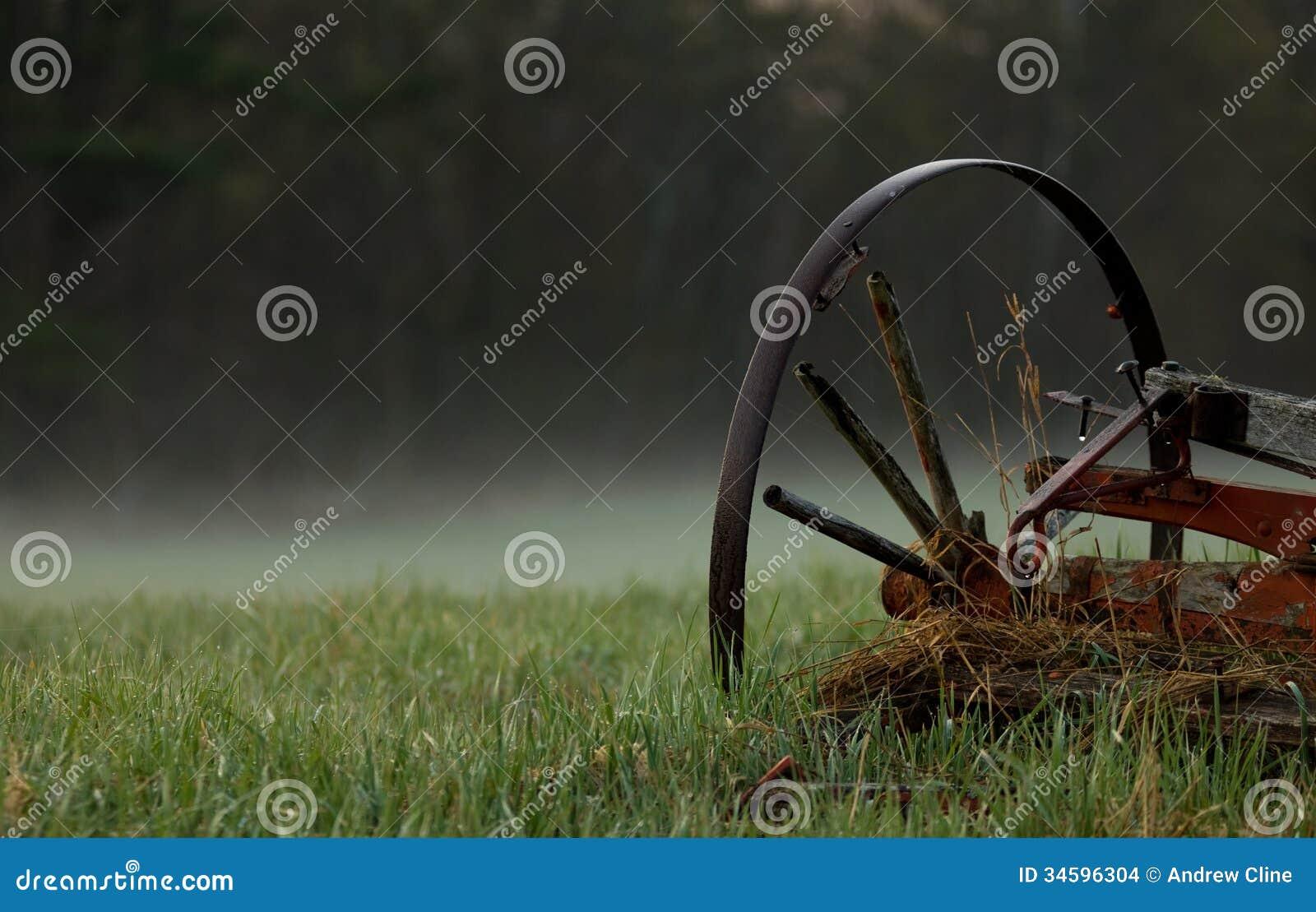 Wagenwiel in de Mist