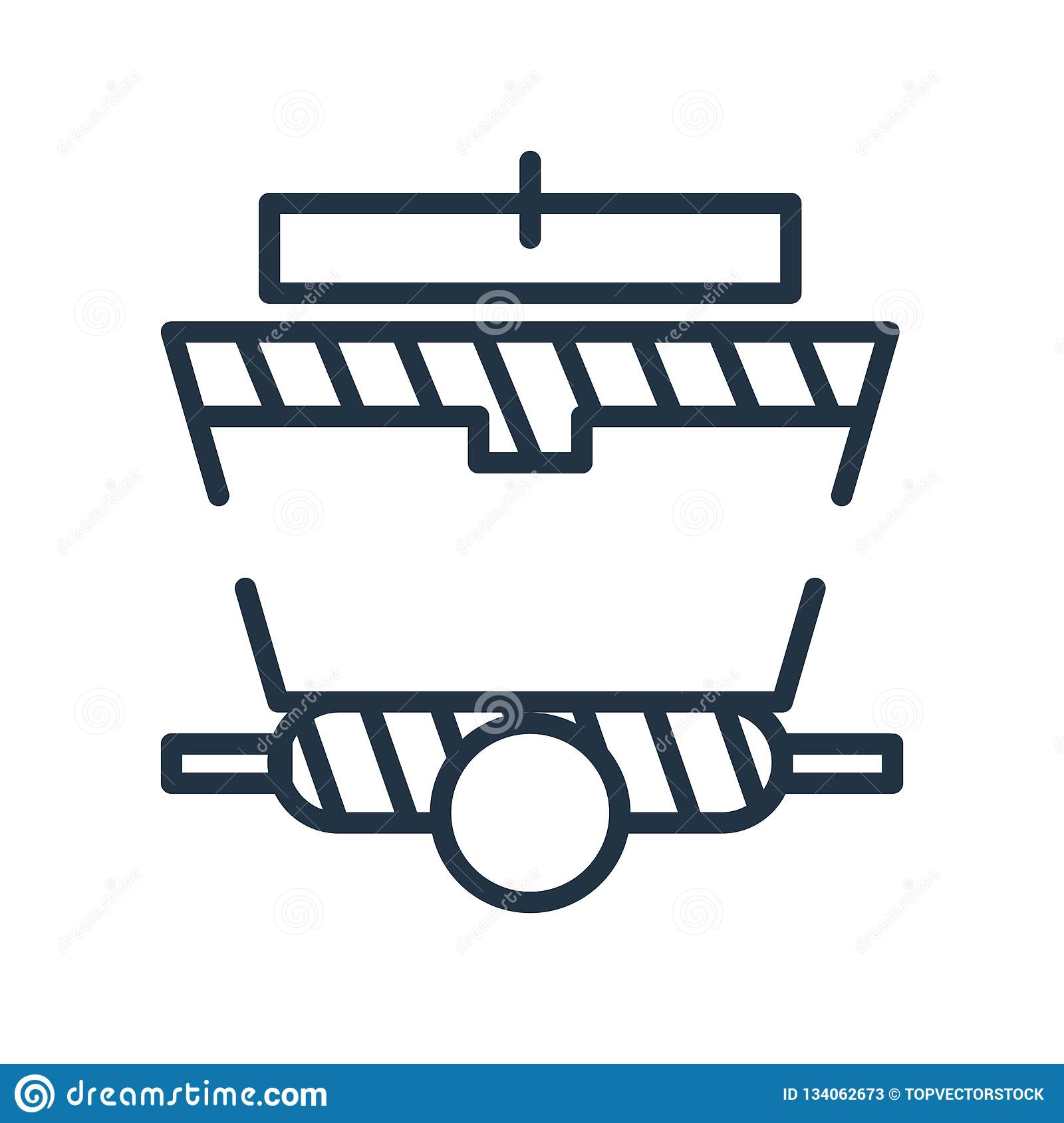 Wagon icon vector isolated on white background, Wagon sign