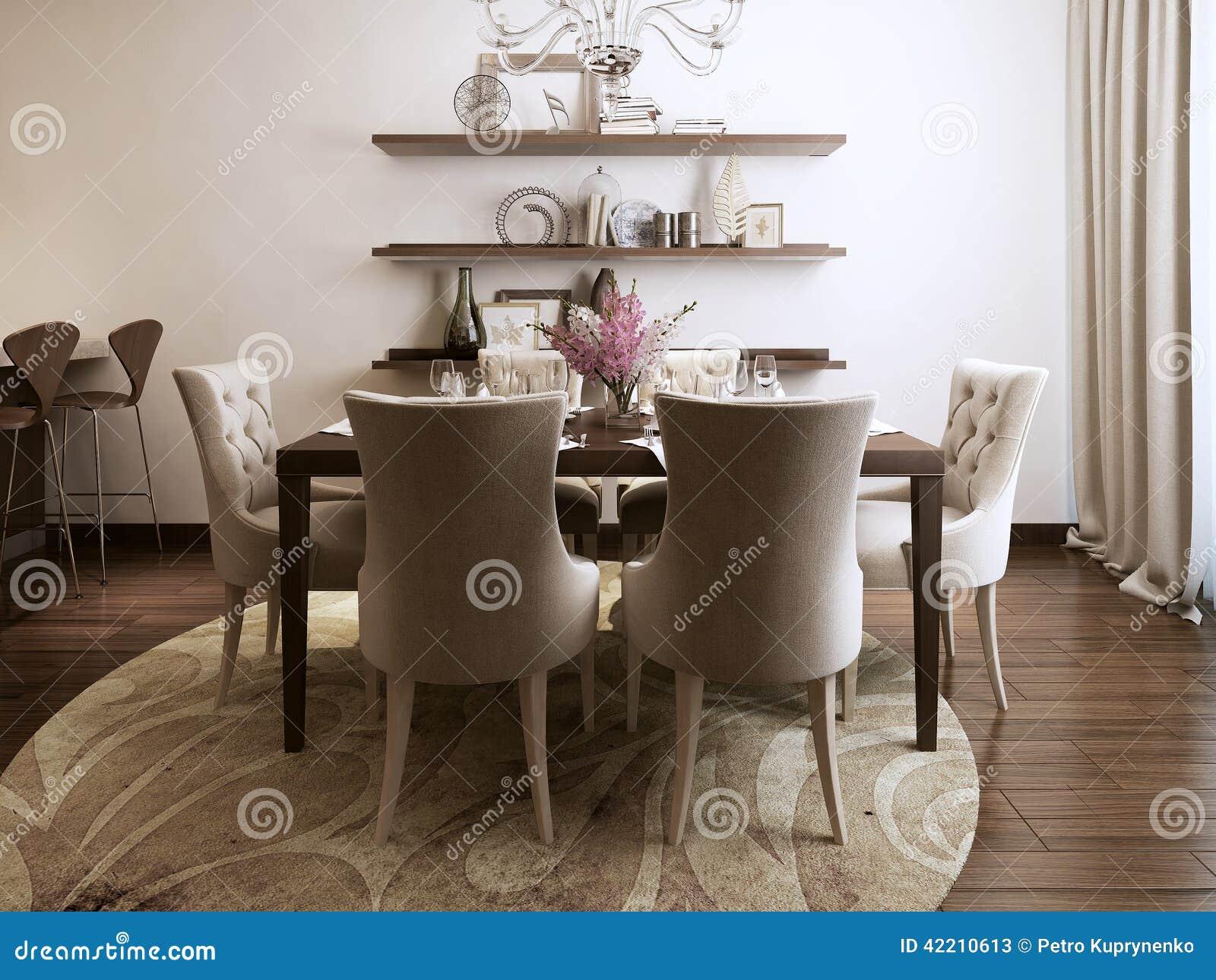 Wagon-restaurant de cuisine dans le style néoclassique