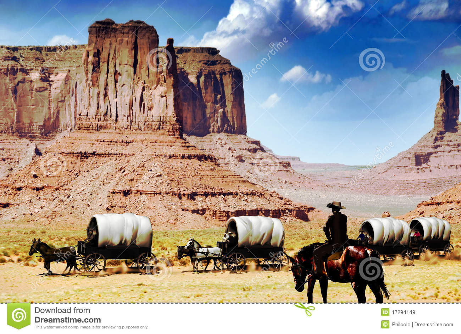 Wagon Train Royalty Free Stock Images Image 17294149