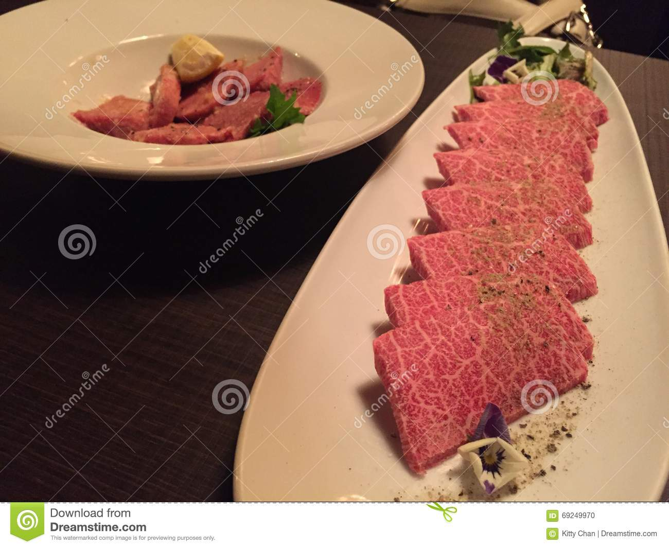 Wagyu Beef At Japanese Restaurant Editorial Image - Image of