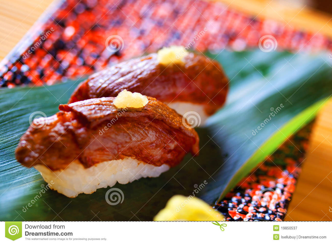 Wagyu Beef Sushi From Japan Royalty Free Stock Photography - Image ...