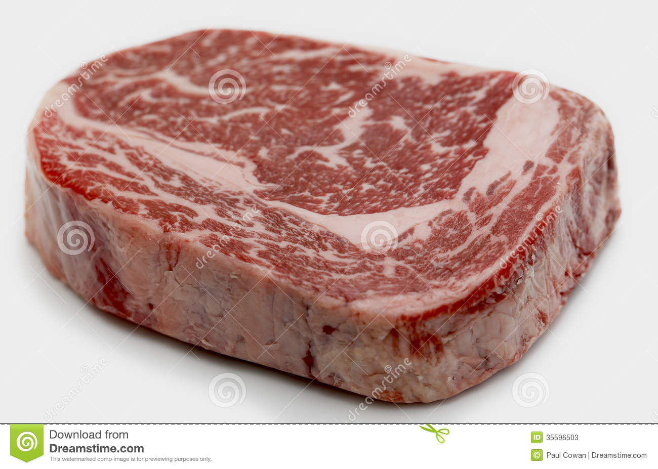 Wagyu Ribeye Steak Raw Stock Photos Image 35596503