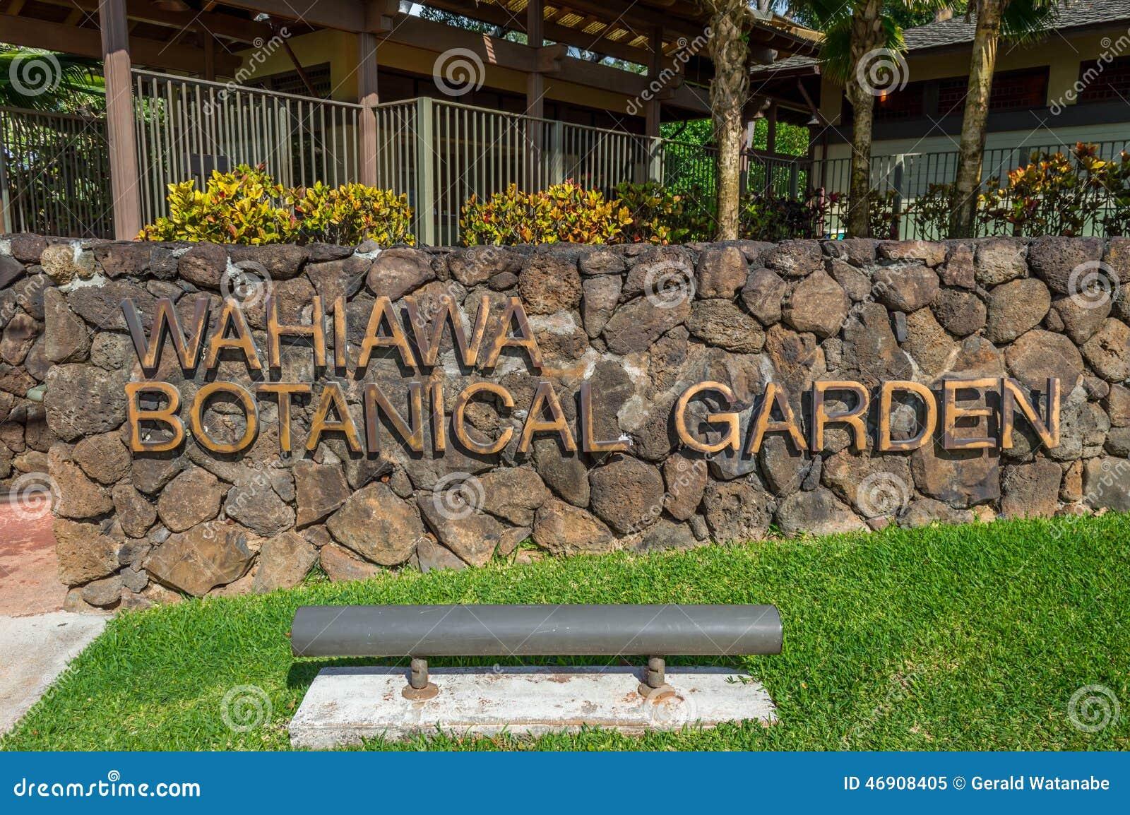 Wahiawa Botanical Gardens stock image. Image of garden - 46908405