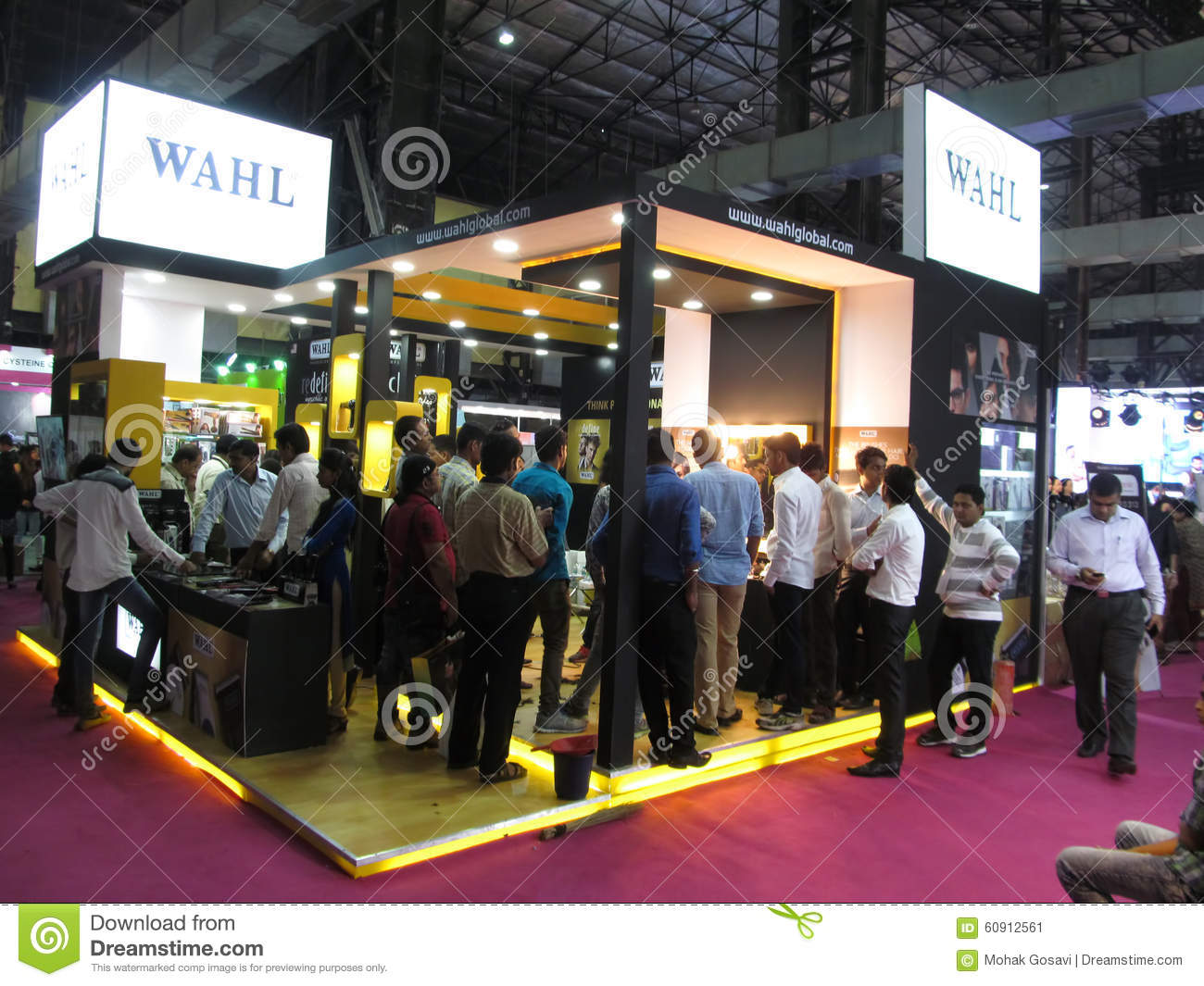Pro Expo Communication Stands Events : Wahl products exhibition stand editorial photo image