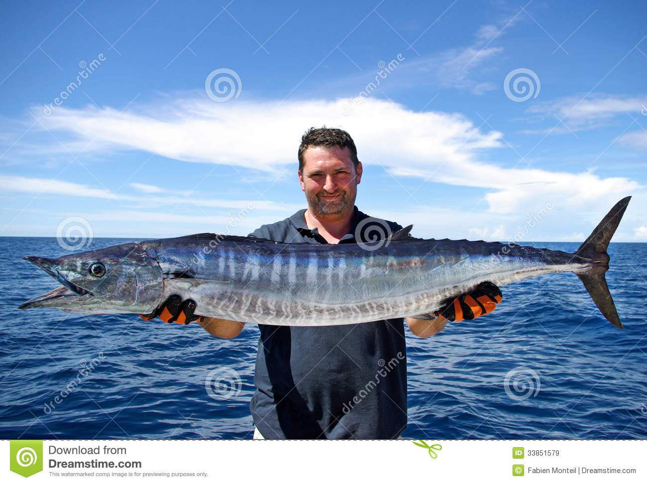 wahoo fish stock image image of people bluefish marlin On picture of a wahoo fish
