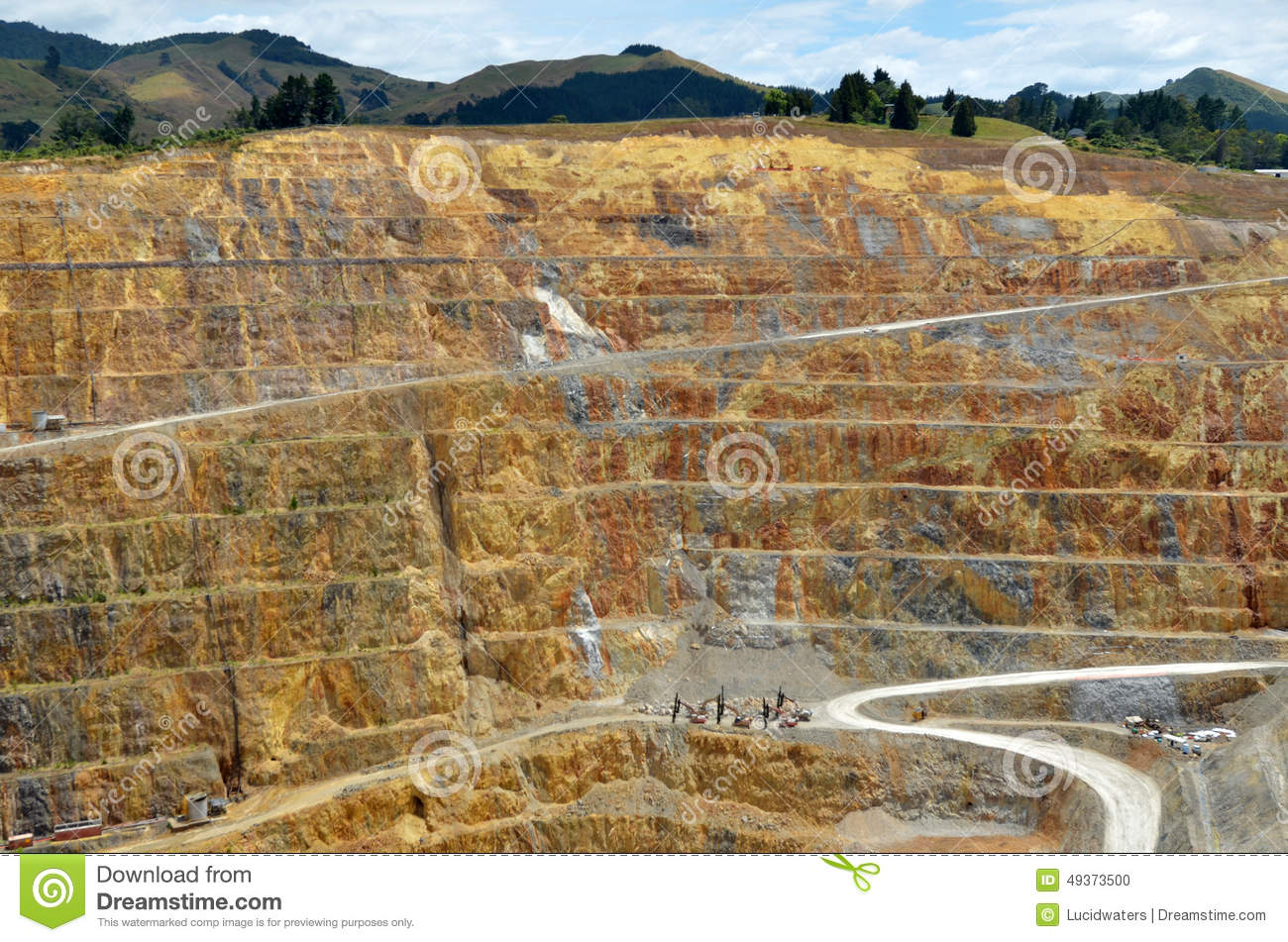 Waihi New Zealand  city photo : WAIHI, NZL JAN 19 2015:Martha Gold Mine in Waihi. It's one of the ...