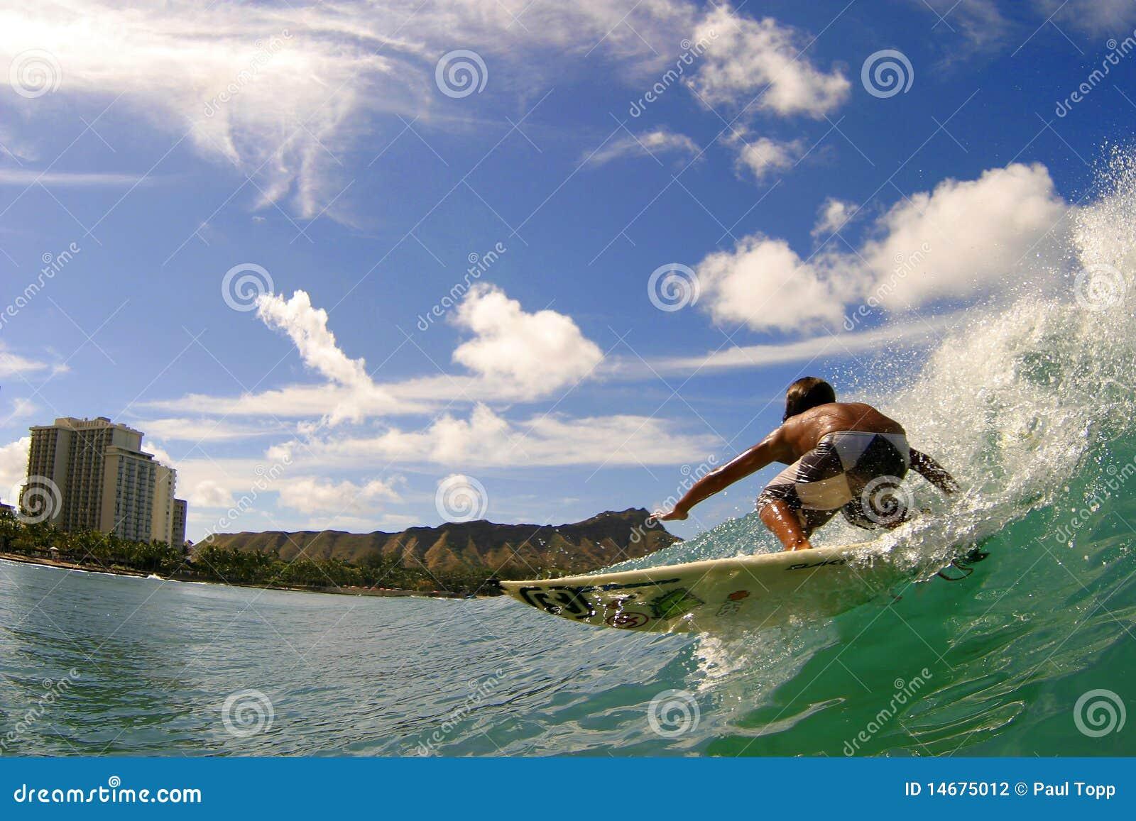 Waikiki σερφ παραλιών moniz seth surfer