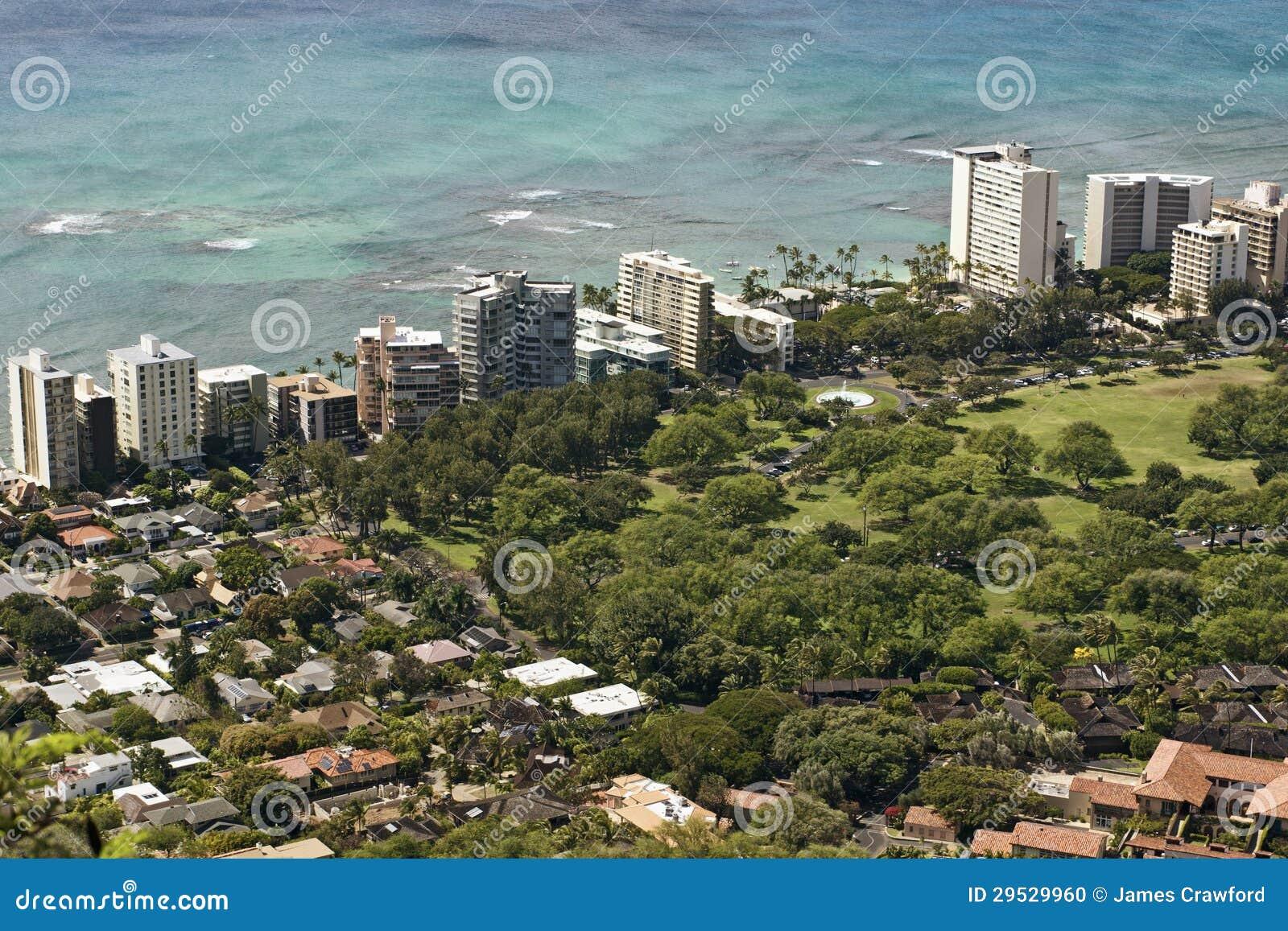 Waikiki do leste Havaí