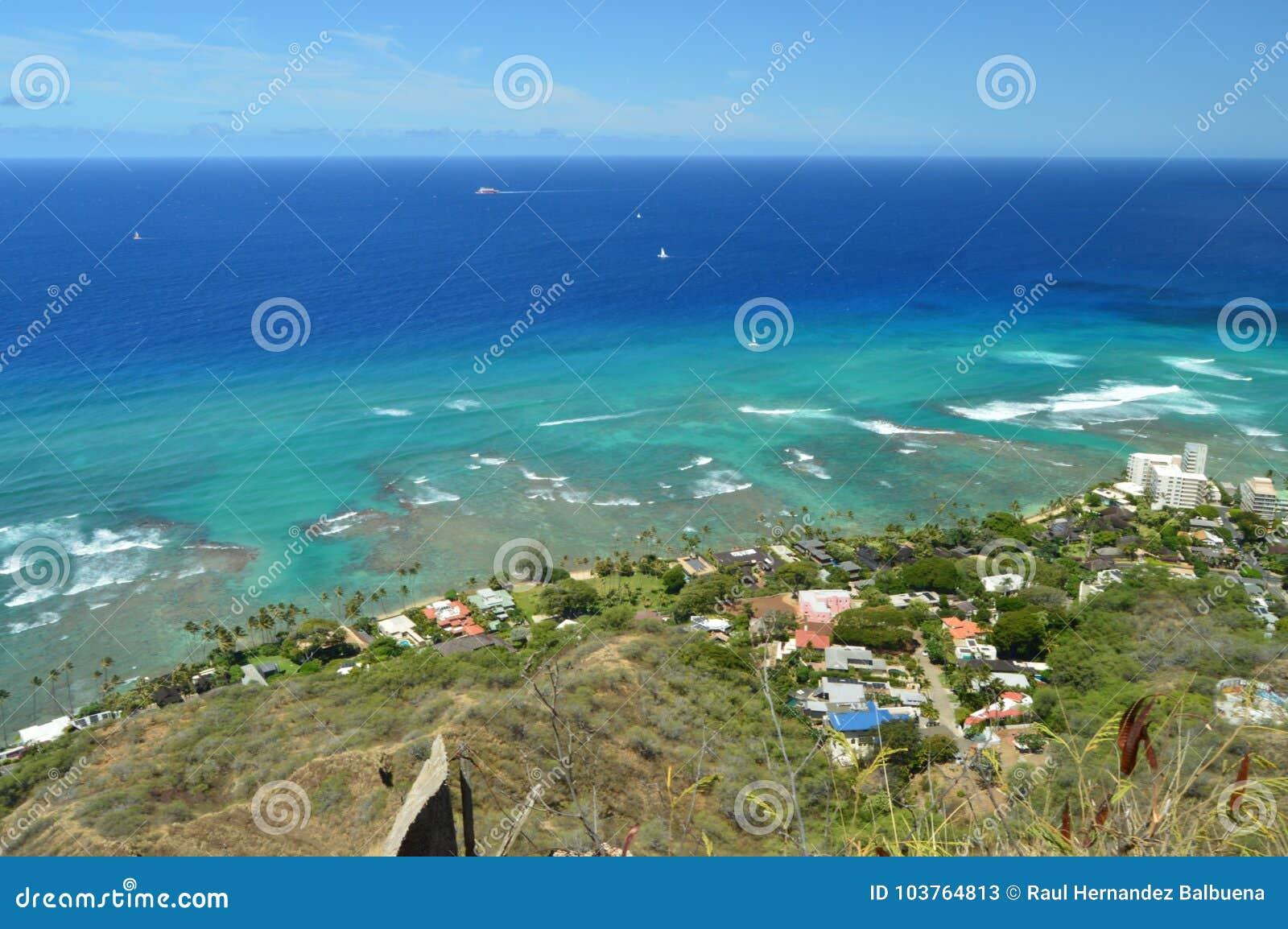 Waikiki gesehen von Diamond Head