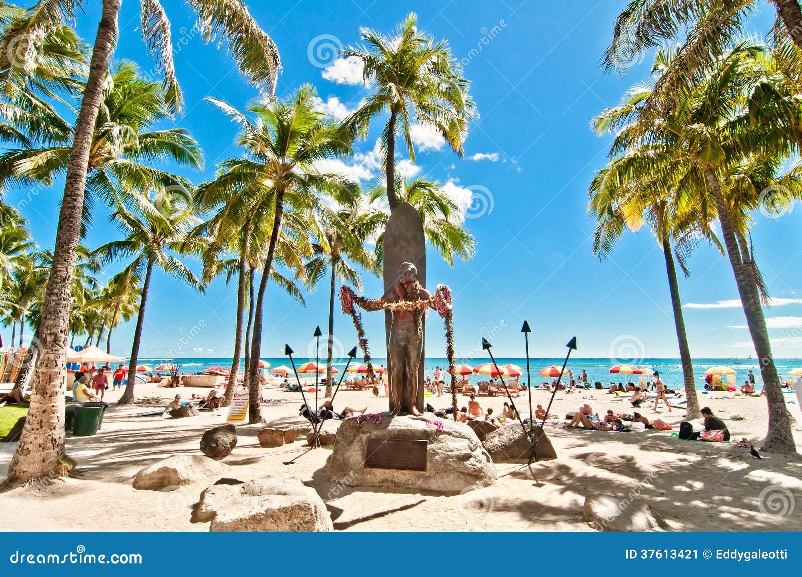 Waikiki strand i Honolulu, Hawaii