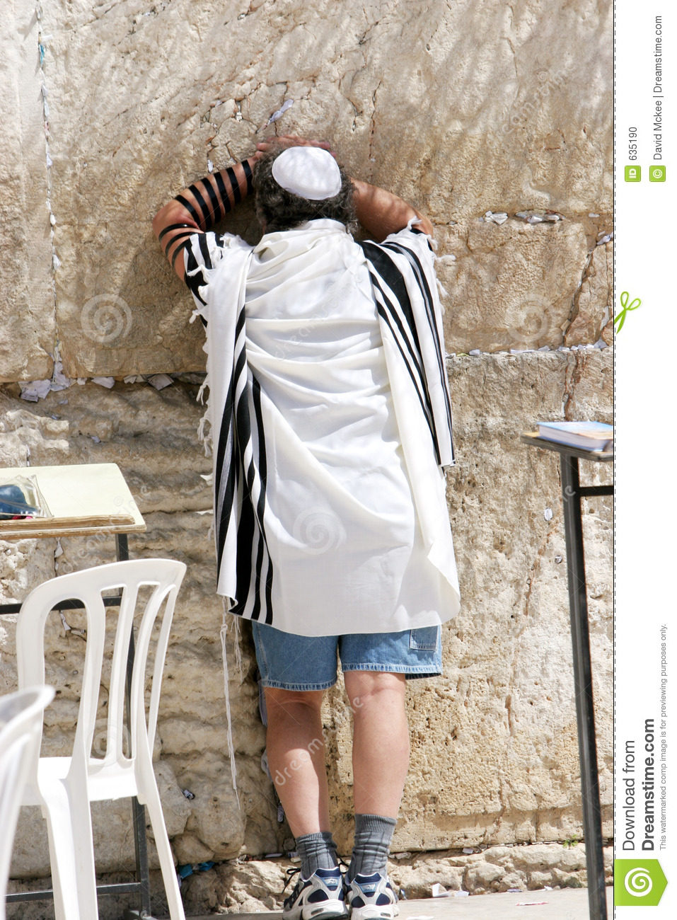 Wailing Wall Prayers In The Heat !! Stock Photo - Image of