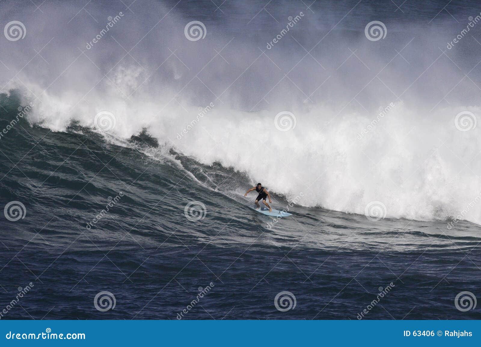 Waimea praticante il surfing